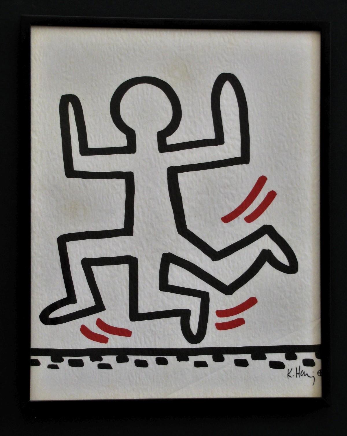 Keith Haring - BLATT aus der BAYER SUITE 1982 . 3 LEGED RUNNER kopen? Bied vanaf 500!