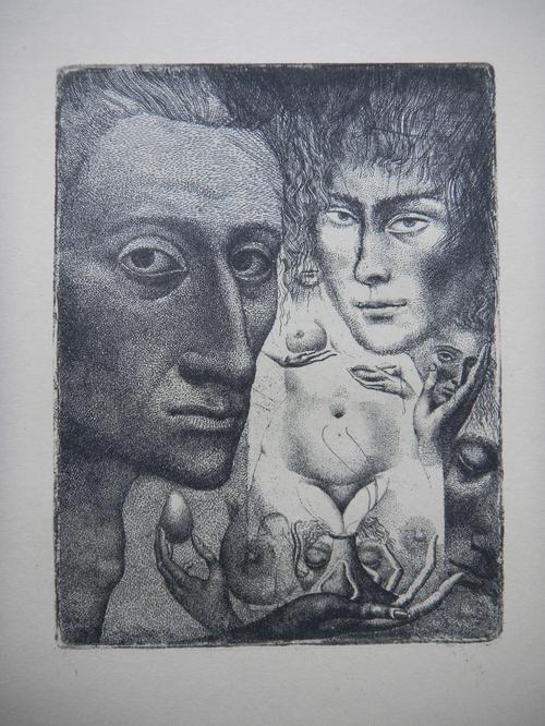 Ernst Fuchs - Ernst FUCHS, Radierung aus 1947,Selbstportrait III. kopen? Bied vanaf 290!