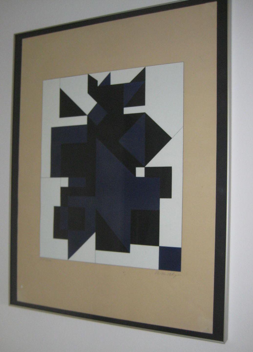 Victor Vasarely - Farbige Serigrafie, UTICA, 1959 kopen? Bied vanaf 300!