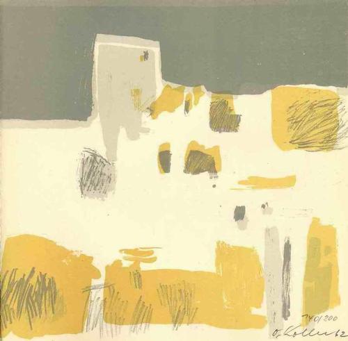 Oskar Koller - INFORMELLE ARCHITEKTONISCHE LANDSCHAFT - 1962 - Handsignierte & dat. OriginalLithographie (NÜRNBERG) kopen? Bied vanaf 110!