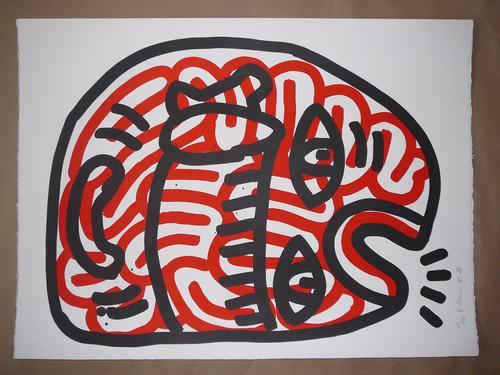 Keith Haring - Ludo, 2x handsignierte Lithographie, nummeriert 59/90 kopen? Bied vanaf 4000!