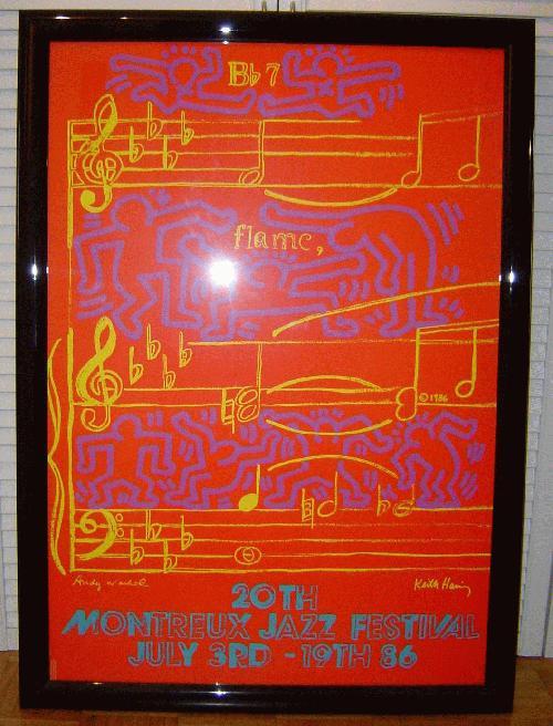 Keith Haring - Montreux Jazz Festival kopen? Bied vanaf 300!
