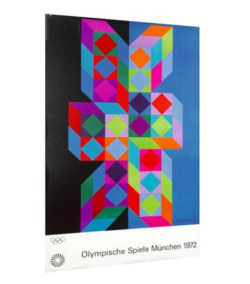 Victor Vasarely - Olympische Spiele München 1972, Farbsiebdruck, Kroll. kopen? Bied vanaf 120!