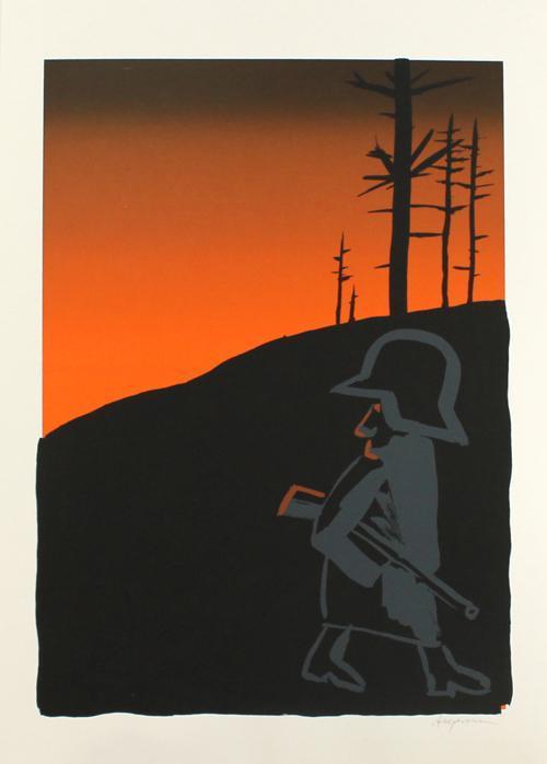 Peter Angermann - Original-Farblihographie von 1985, handsigniert kopen? Bied vanaf 95!