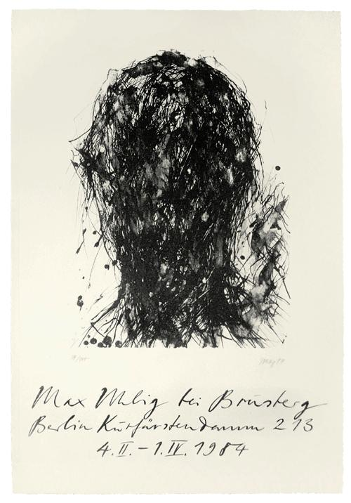 Max Uhlig - Originalgraphisches Plakat, 1984. Kopf, handsigniert, Auflage 100. kopen? Bied vanaf 150!