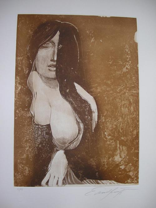 Ernst Fuchs - Phantom-Lady, handsigniert, nummeriert, Aquatinta-Radierung in 3 Farben kopen? Bied vanaf 400!