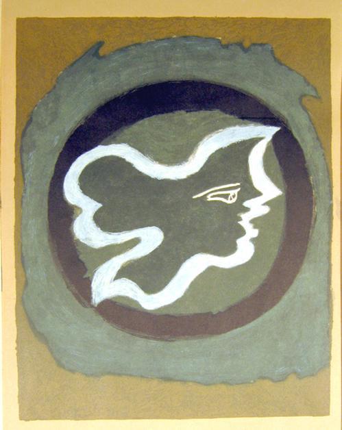 Georges Braque - Profil Grece, Originallitho vor 1959 kopen? Bied vanaf 480!