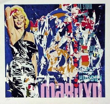 """Mimmo Rotella - """"Marilyn II"""",Siebdruck, handsigniert und nummeriert kopen? Bied vanaf 345!"""