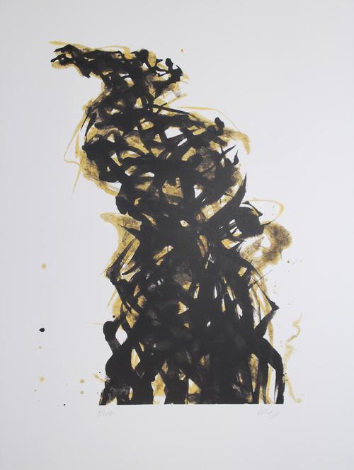 Max Uhlig - Winterlicher Rebstock, Lithographie, 2002, signiert kopen? Bied vanaf 120!