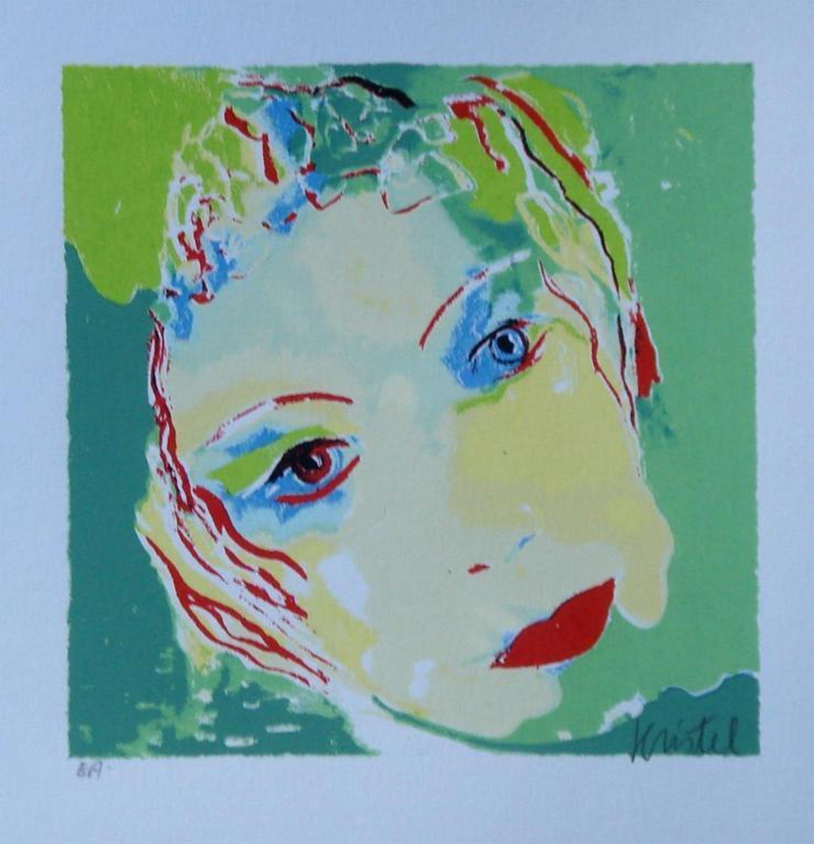Zeefdruk van Sylvia Kristel - Face kopen? Bied vanaf 1!