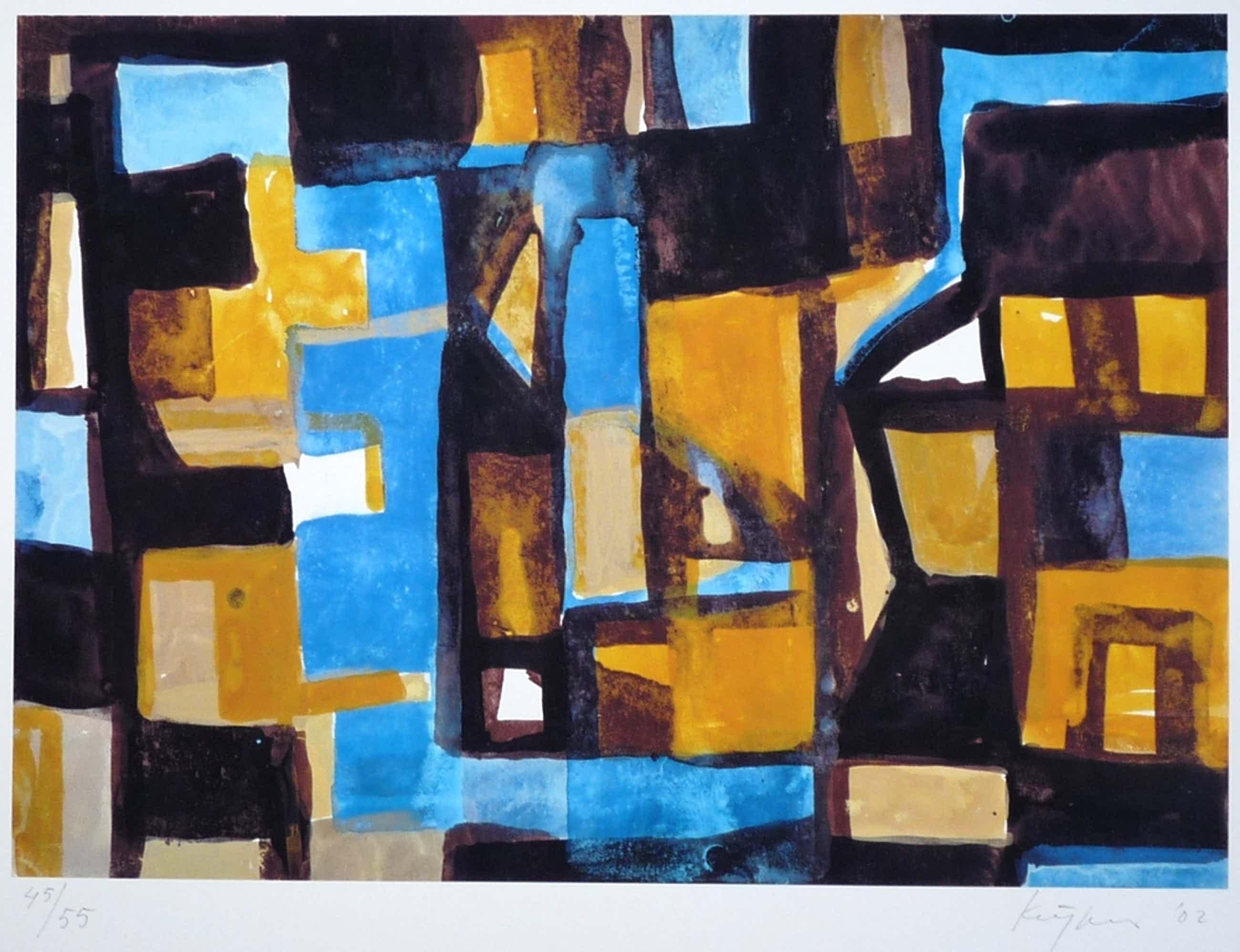 Theo Kuijpers: Giclee, Abstract, Gesigneerd, 2002 kopen? Bied vanaf 75!