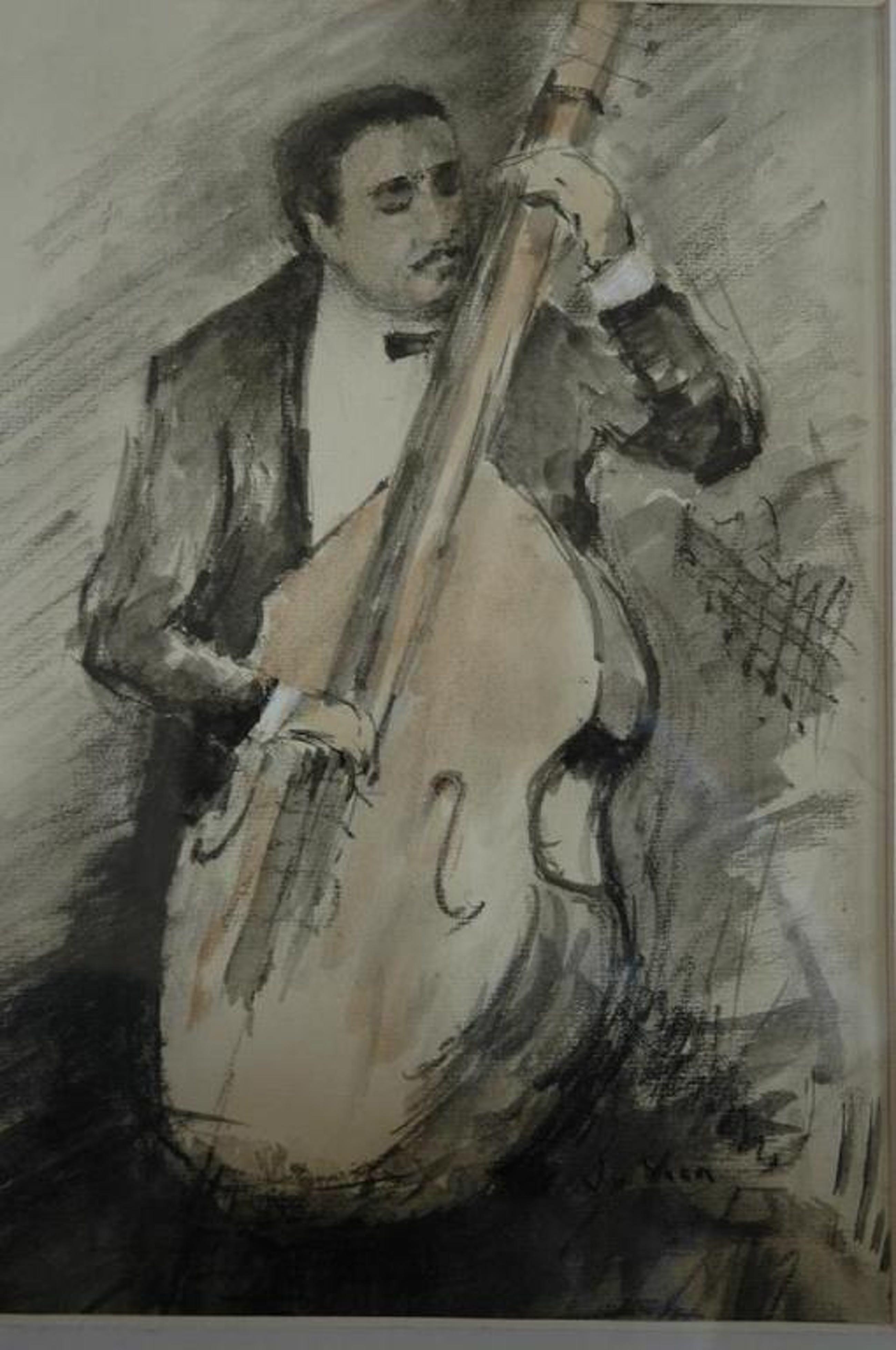 Veen, J vd, aquarel op papier van bassist Ray Brown concert 1968 Amsterdam kopen? Bied vanaf 1!