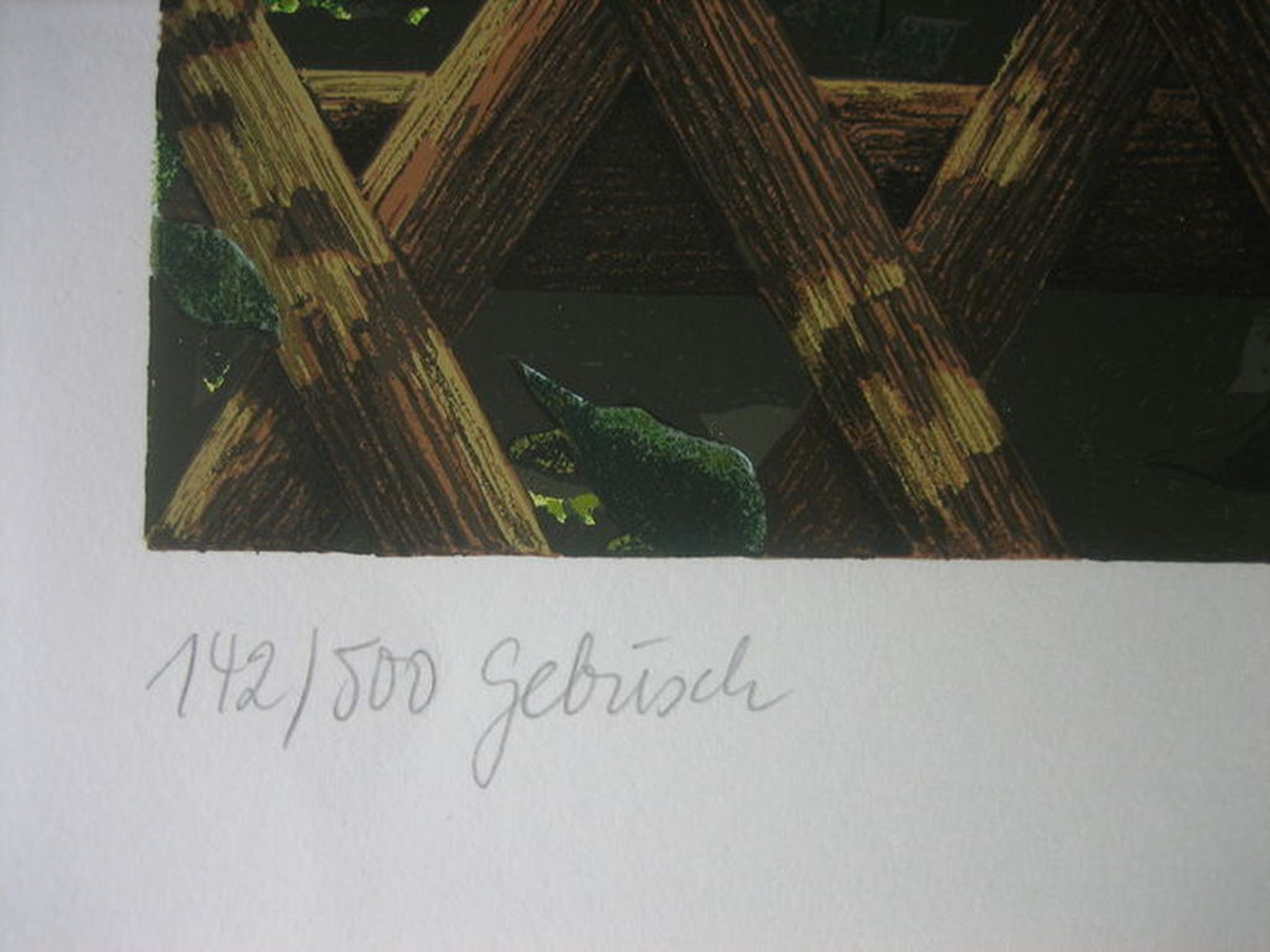 Rolf Schröder-Borm - Gebüsch - Lithografie - handgesigneerd - Oplage: 500 - 1974 kopen? Bied vanaf 1!