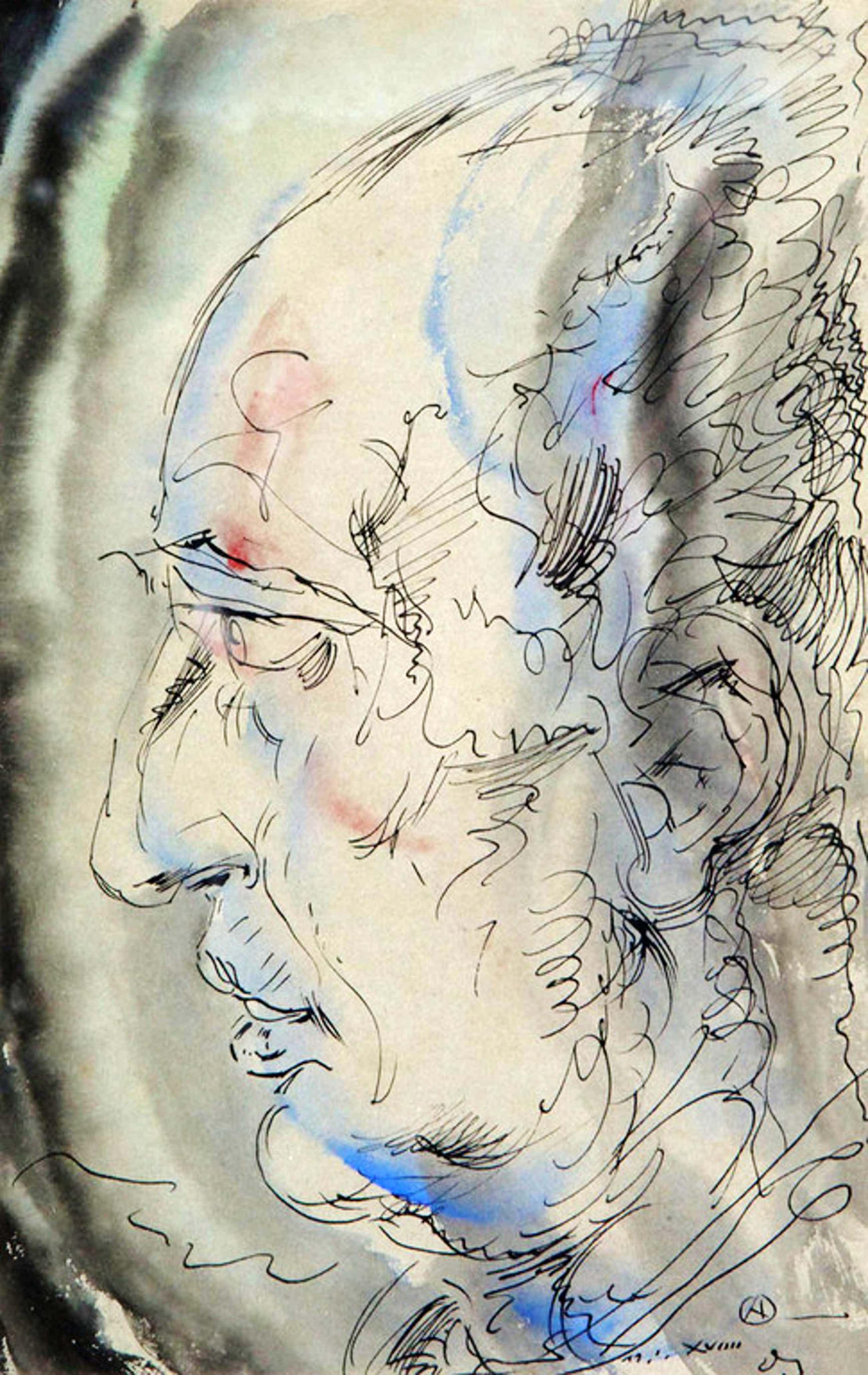 Alfred Ost tekening, aquarel met Oost-Indische inkt, gesigneerd, 1919 kopen? Bied vanaf 220!