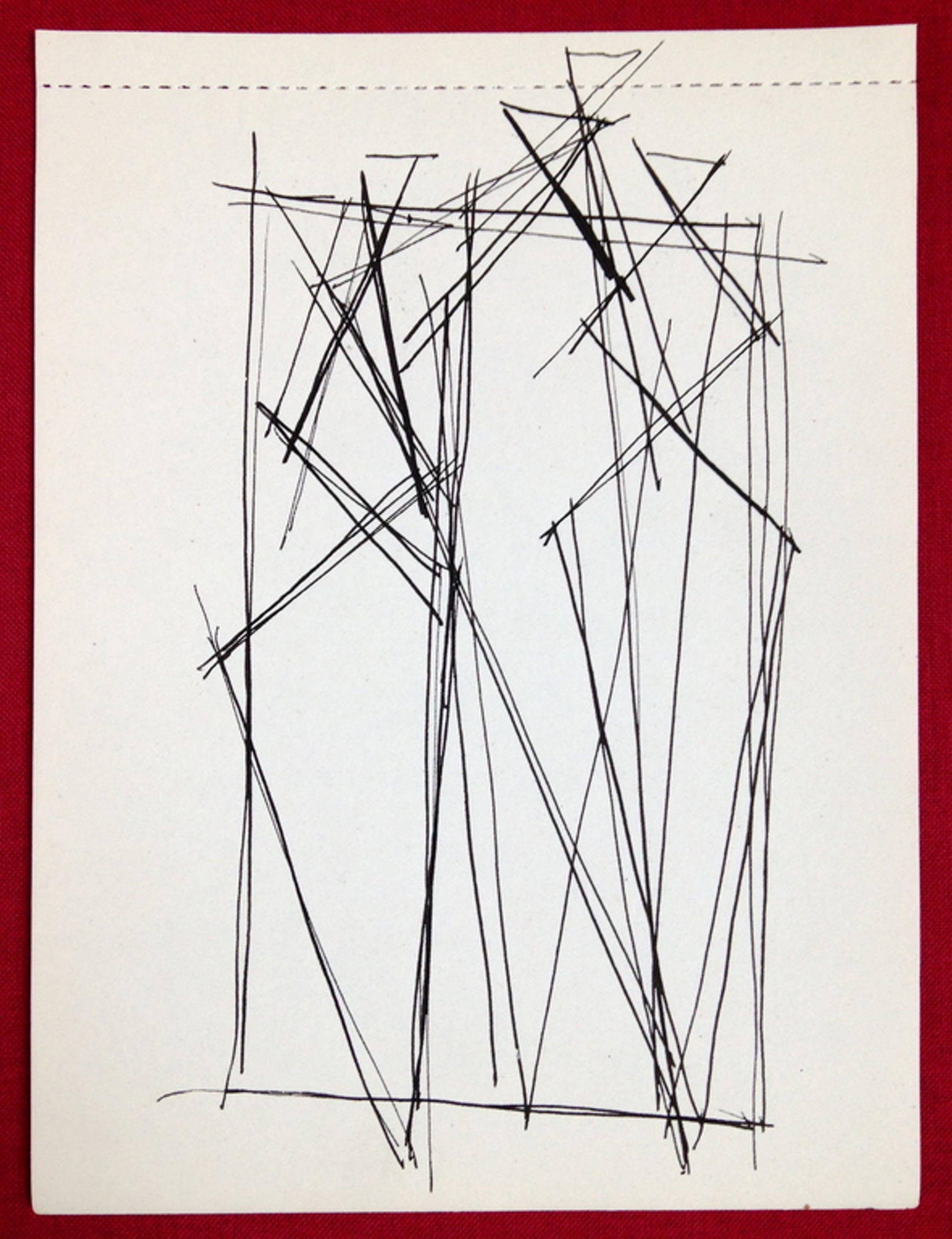 Siep van den Berg, ORIGINELE tekening uit 1956, 'Figuren' kopen? Bied vanaf 1!