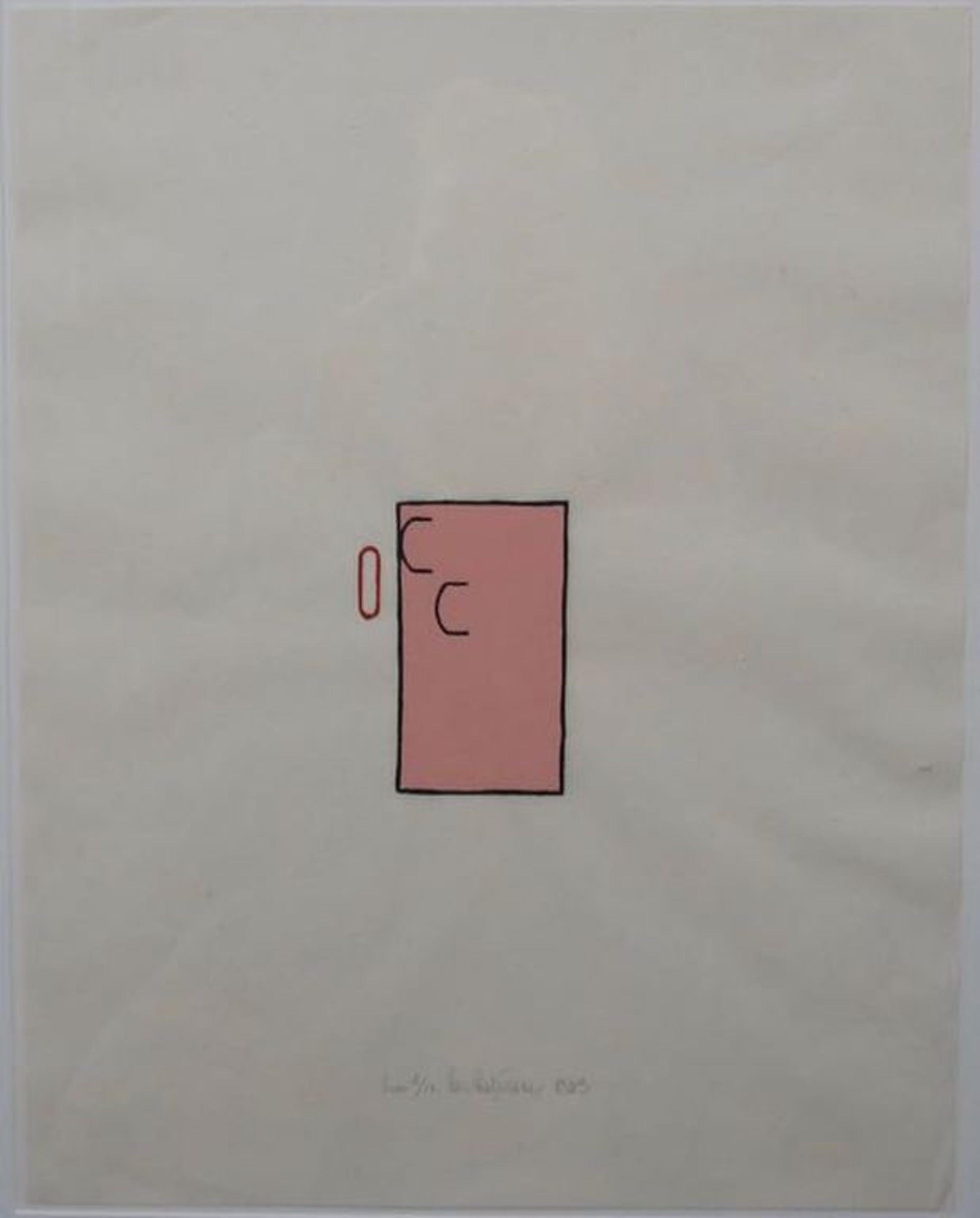 Cees Andriessen: Lino, Z.T. roze - Ingelijst kopen? Bied vanaf 1!
