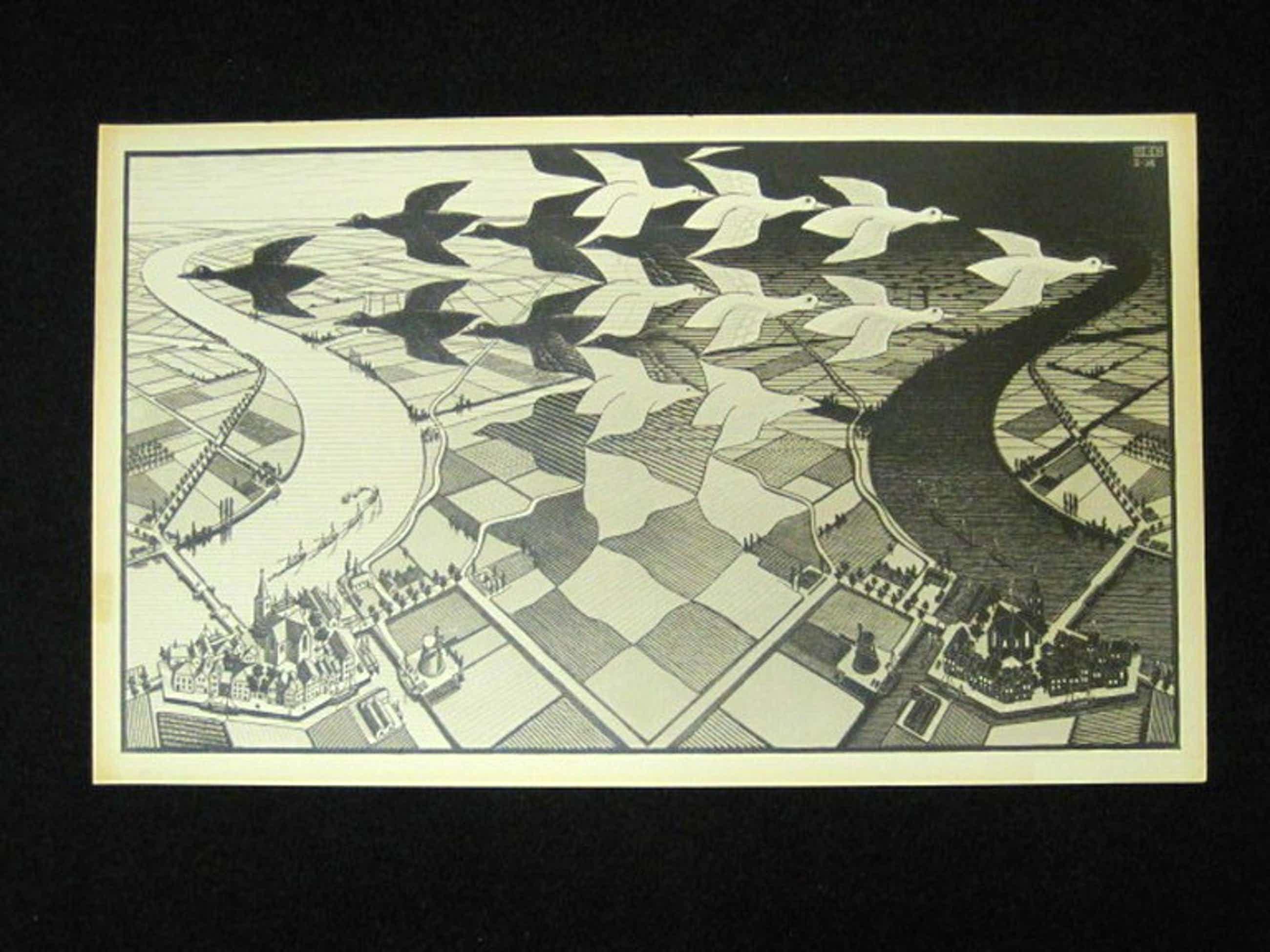 M.C.Escher1898-1972 oude lithografie  kopen? Bied vanaf 60!