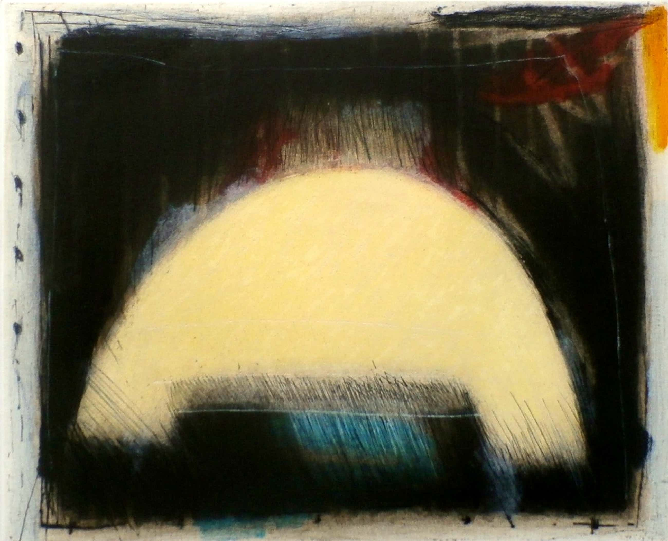 Kees Slegt - abstracte ets - 1987 kopen? Bied vanaf 35!