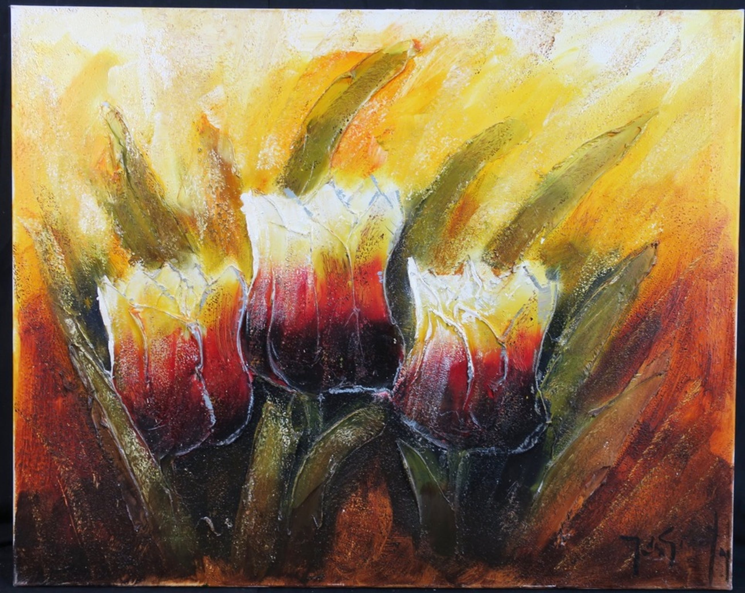 Jochem de Graaf: Olieverf op doek, Tulpen kopen? Bied vanaf 1!