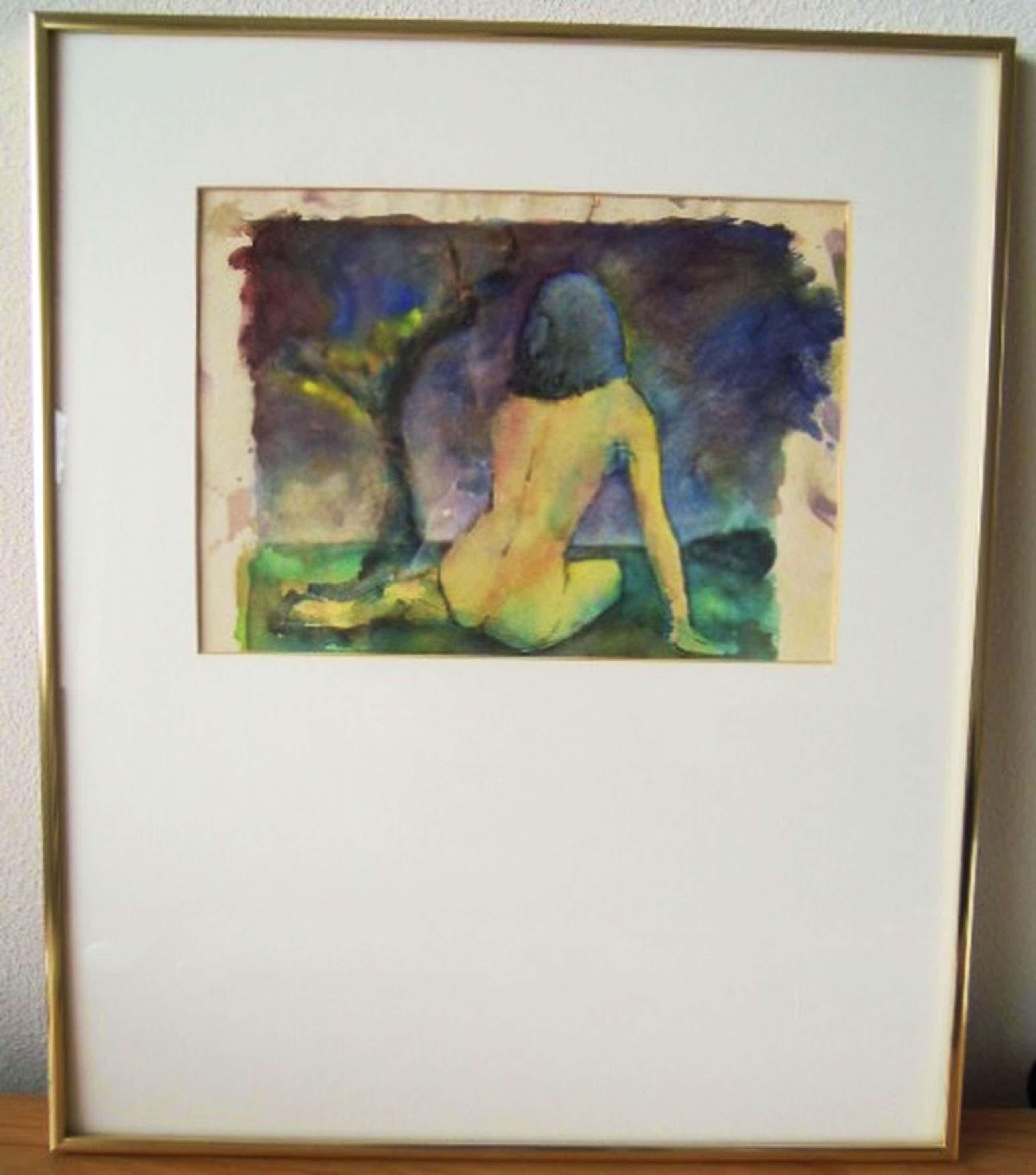 Originele aquarel van ANTON GEERLINGS 1923 - 39 X 28 cm. kopen? Bied vanaf 65!