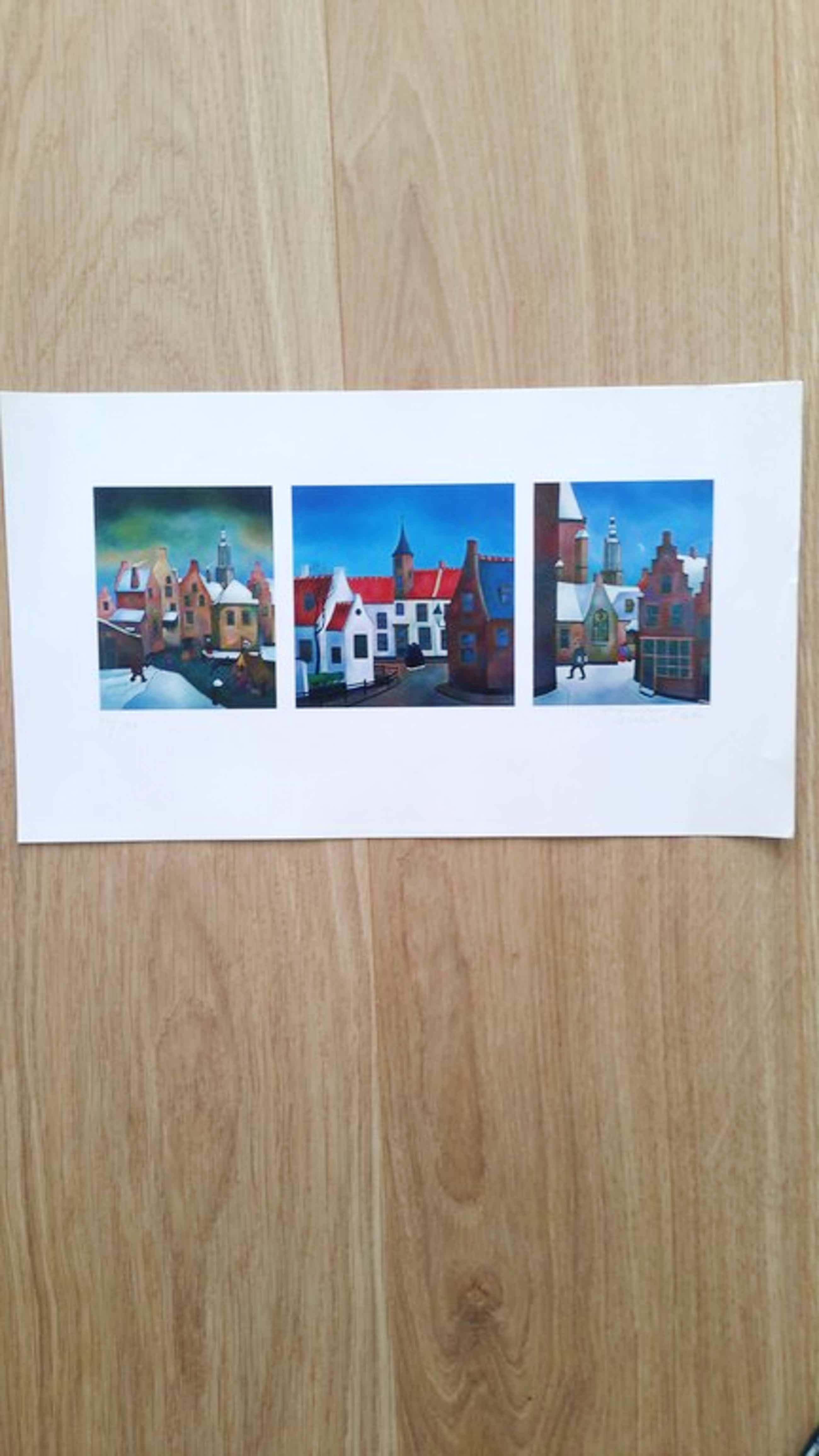 Toon Tieland Kleurenlitho van drie schilderijen kopen? Bied vanaf 35!