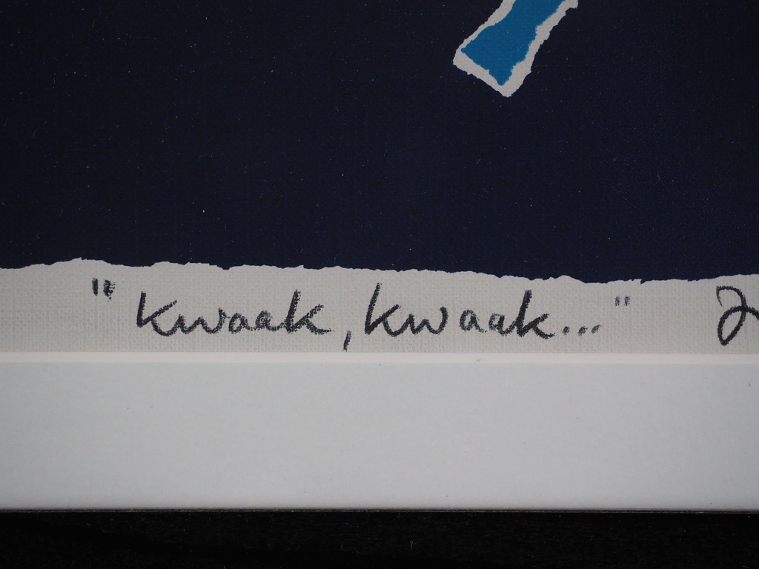 Hans Innemee: Zeefdruk, Kwaak, Kwaak..... kopen? Bied vanaf 50!