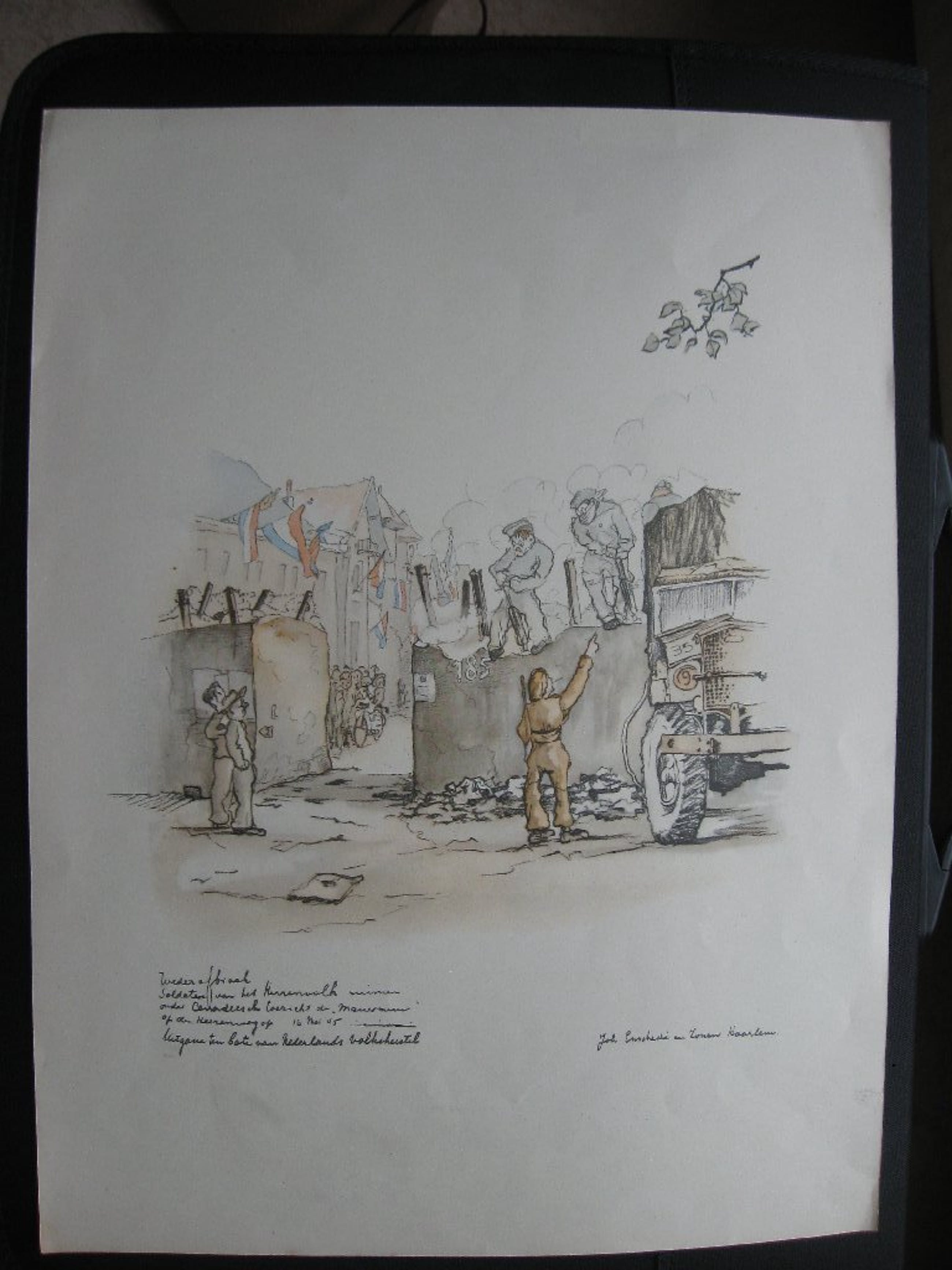Heerenweg Haarlem, 1945, opruiming oorlogse Mauermuur kopen? Bied vanaf 10!
