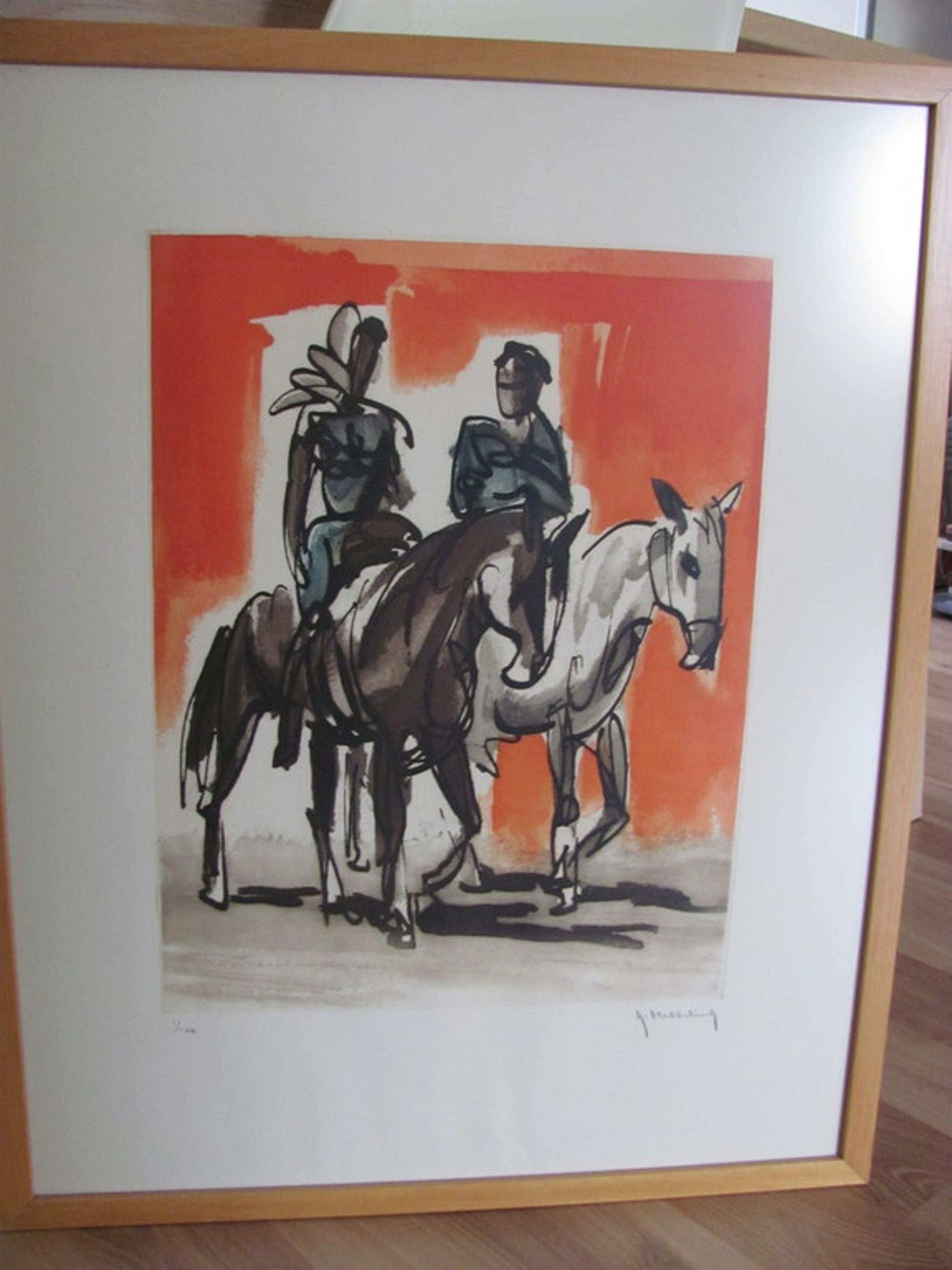 Roger Hebbelinck - Boer en boerin te paard kopen? Bied vanaf 25!