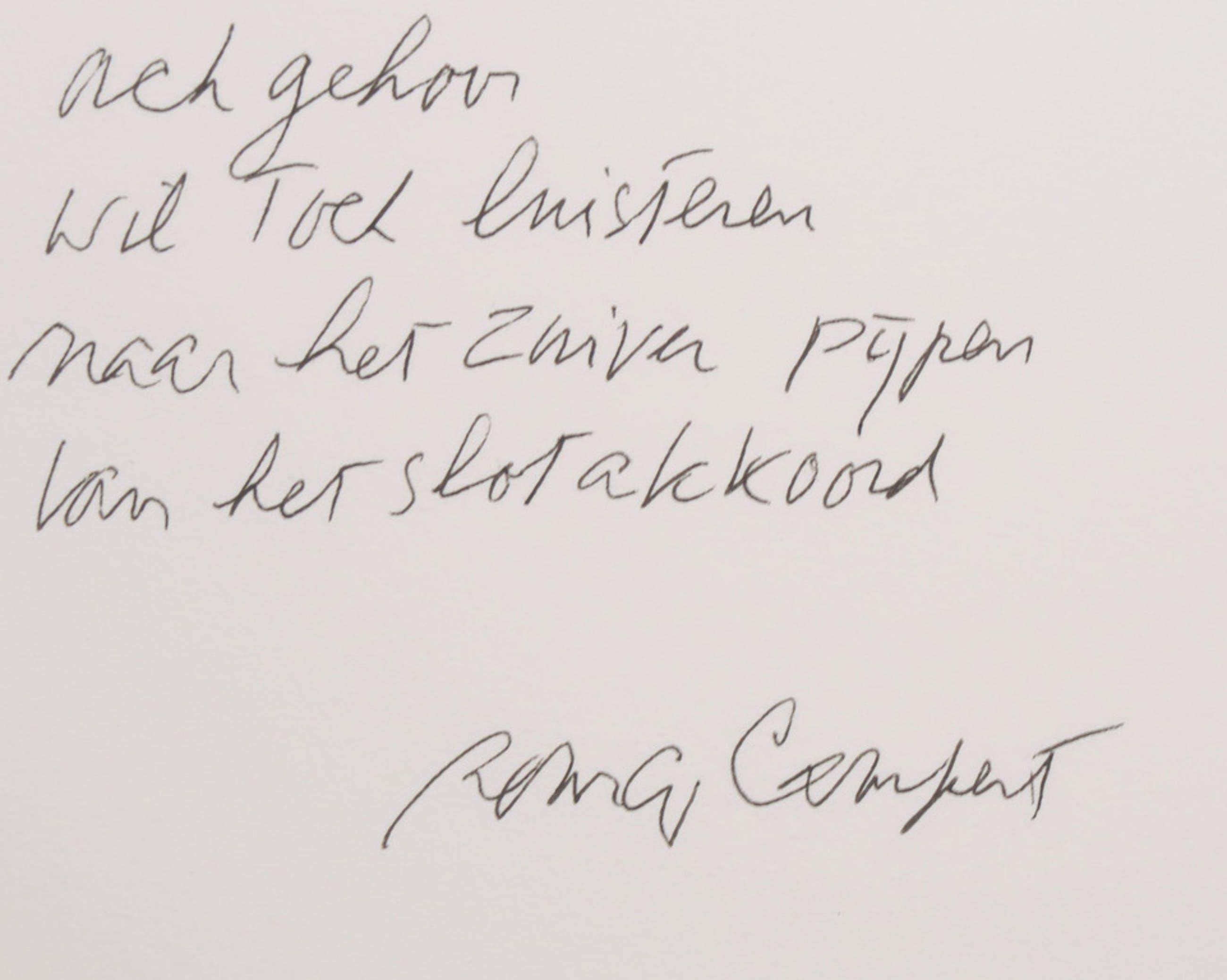 Rinke Nijburg: Ets, Het slotakkoord + Remco Campert: Gedicht, Schietgebed kopen? Bied vanaf 40!