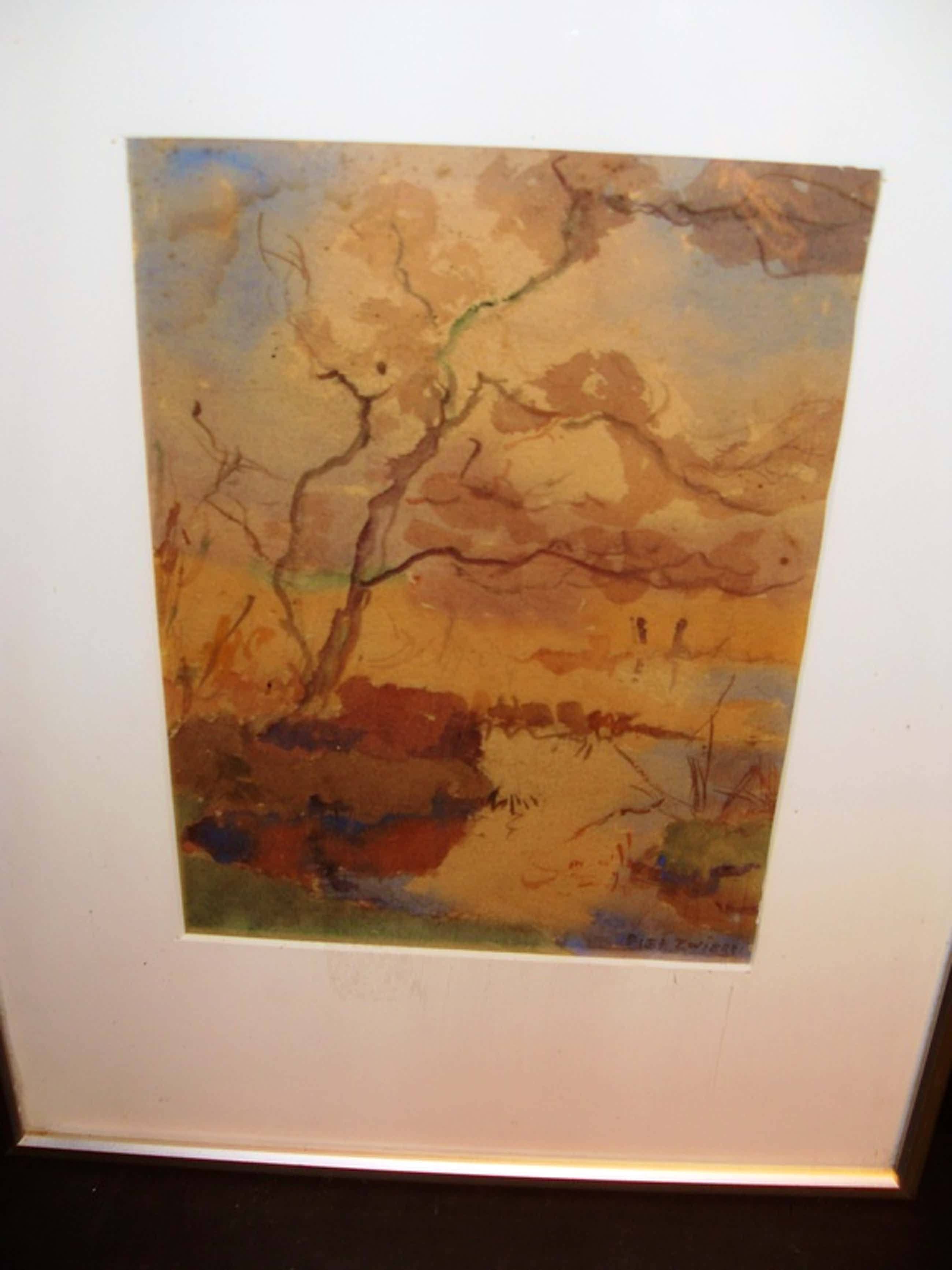 Piet Zwiers, aquarel, landschap kopen? Bied vanaf 60!