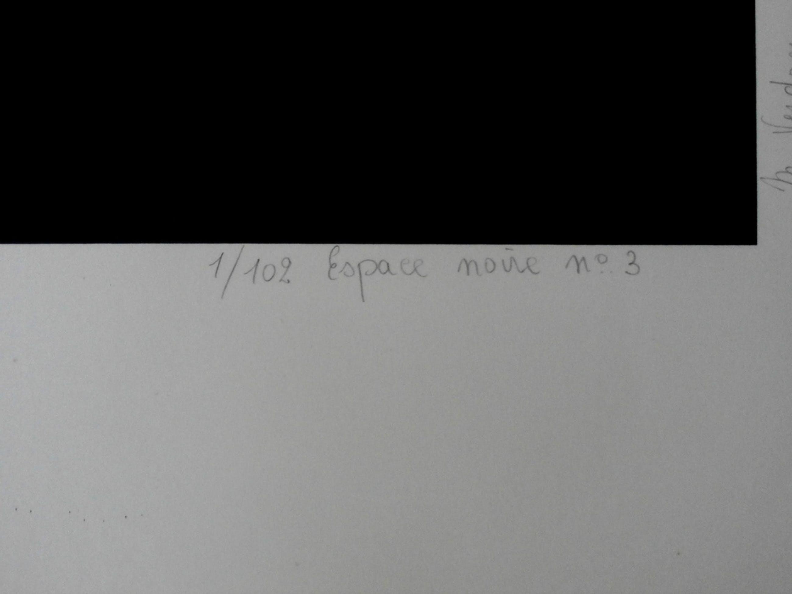 Marcel Verdren - Zeefdruk: geometrische compositie: Espace noir no. 3 kopen? Bied vanaf 150!