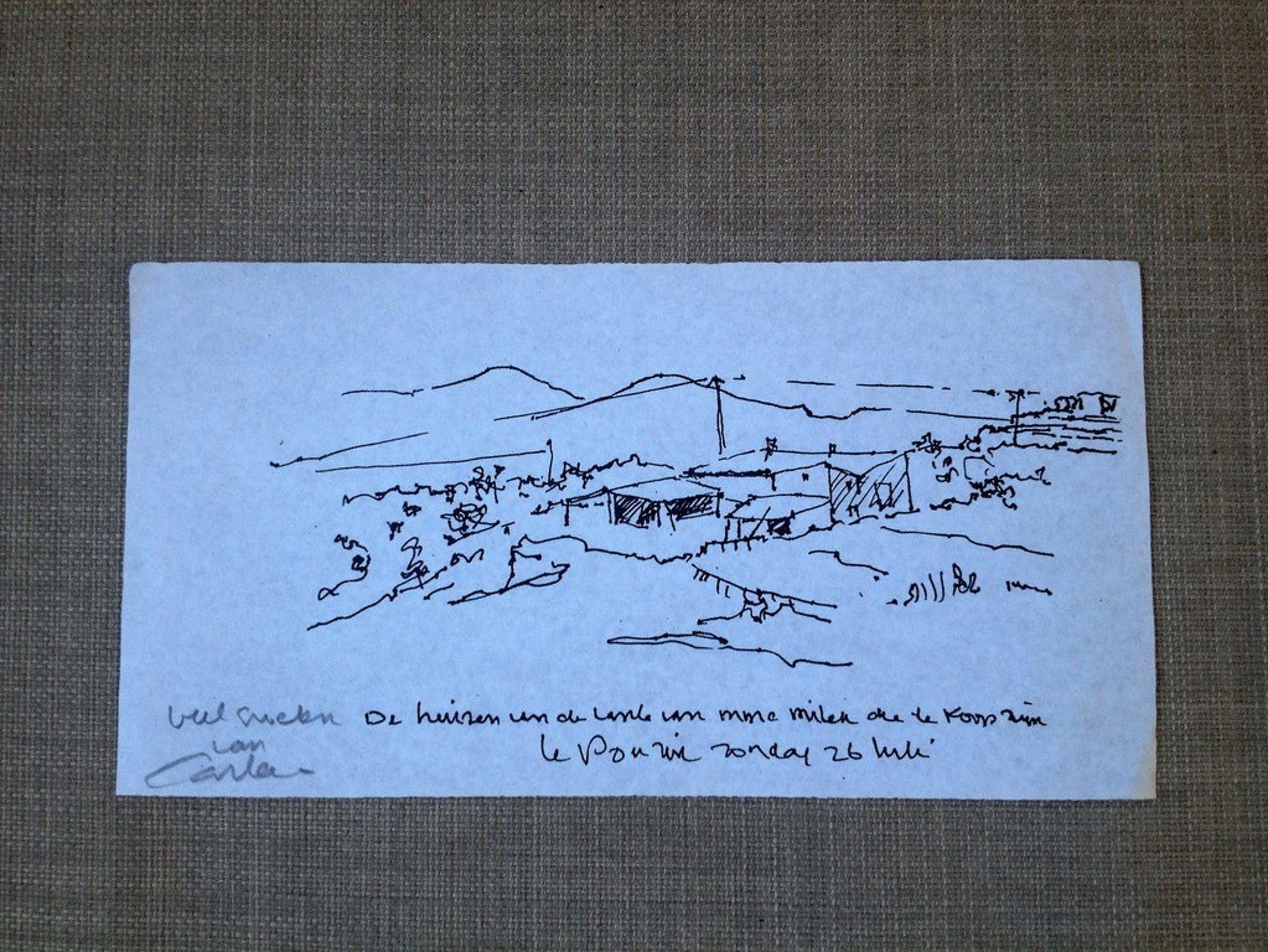 Carla Kleekamp: Pentekening, Le Pouzin kopen? Bied vanaf 1!