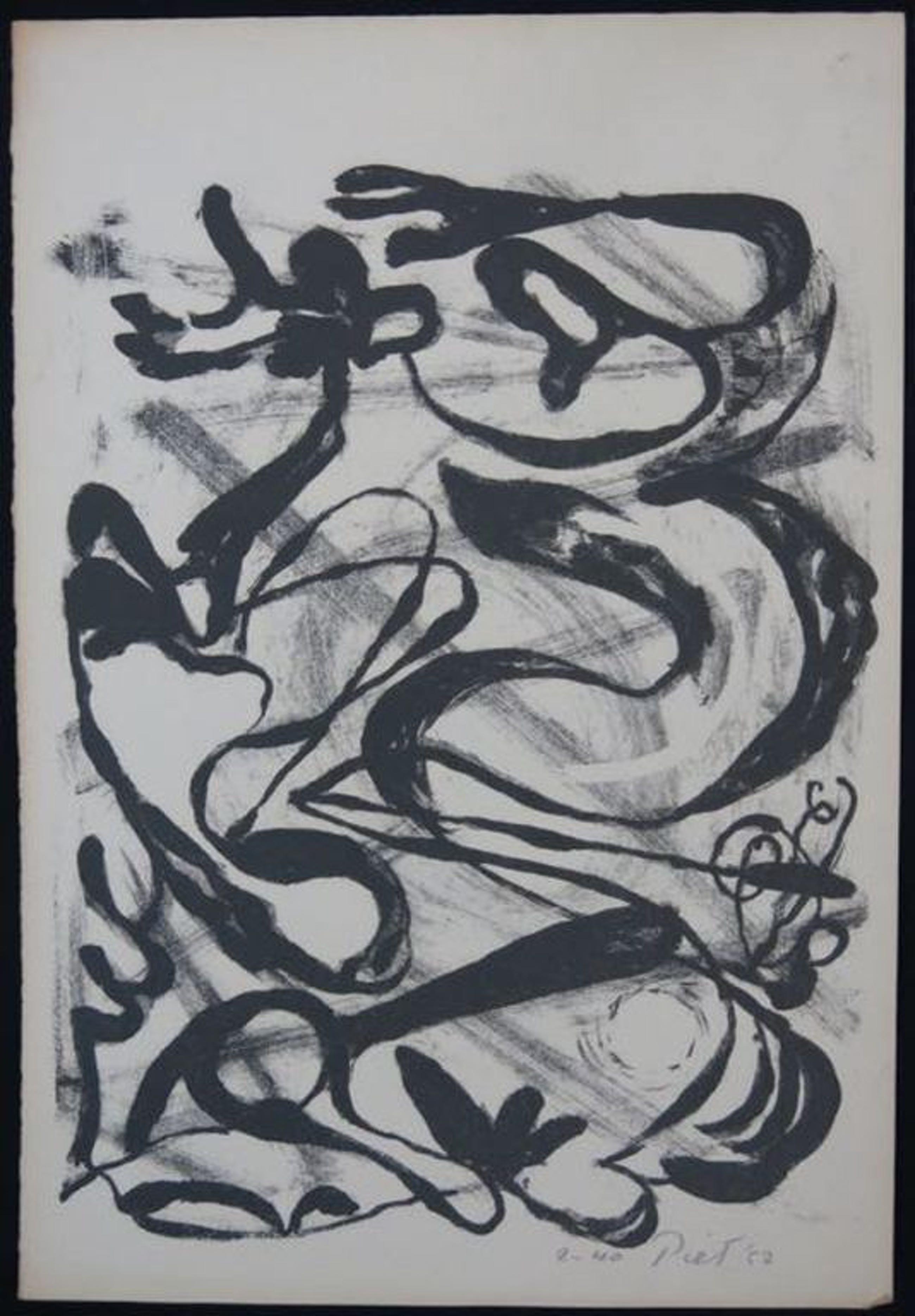 Piet van Stuivenberg: Litho, Zonder titel (creatie 1952) kopen? Bied vanaf 1!