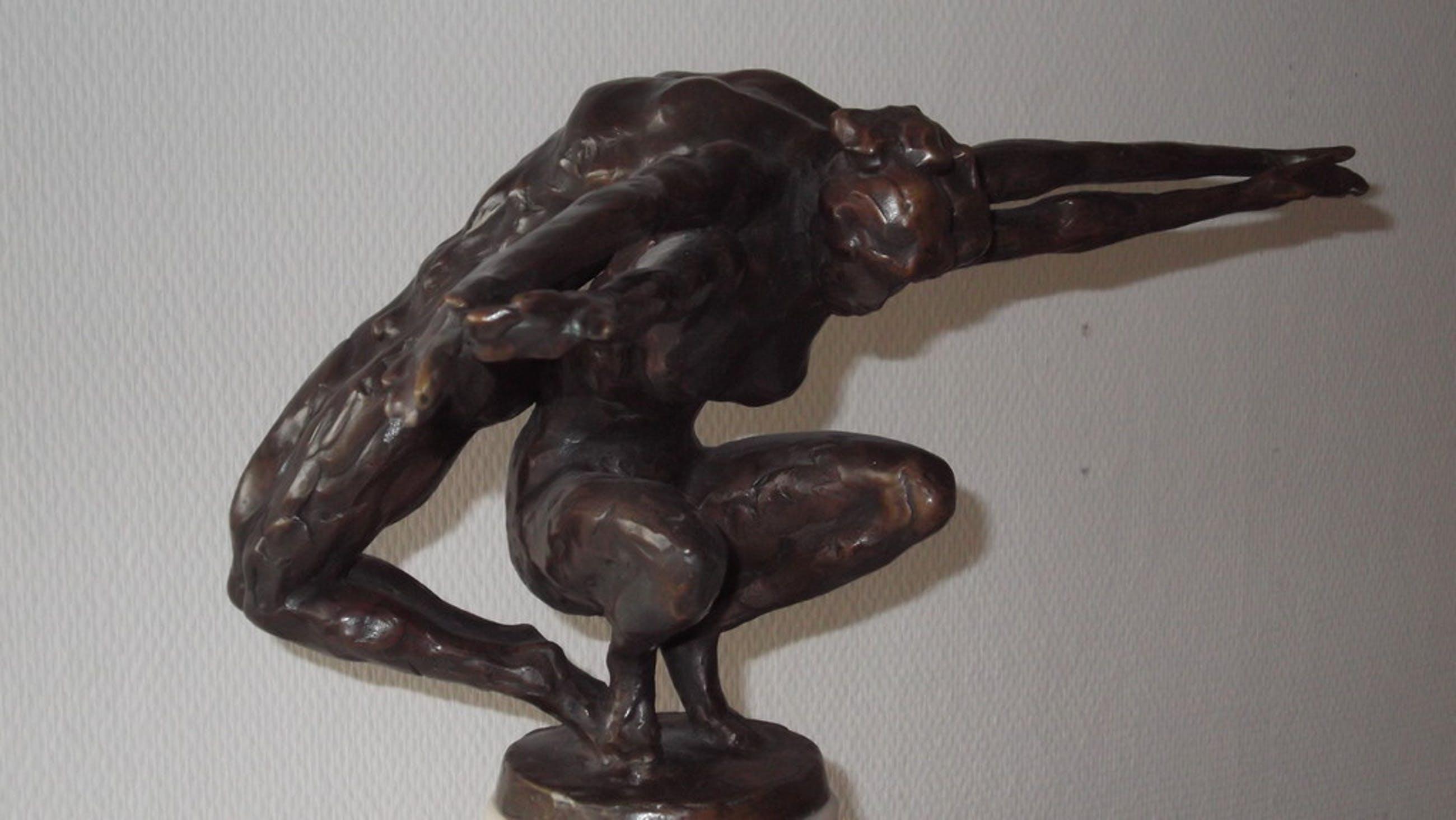 KeesVerkade, bronzen beeld,Soutien Feminin kopen? Bied vanaf 3250!