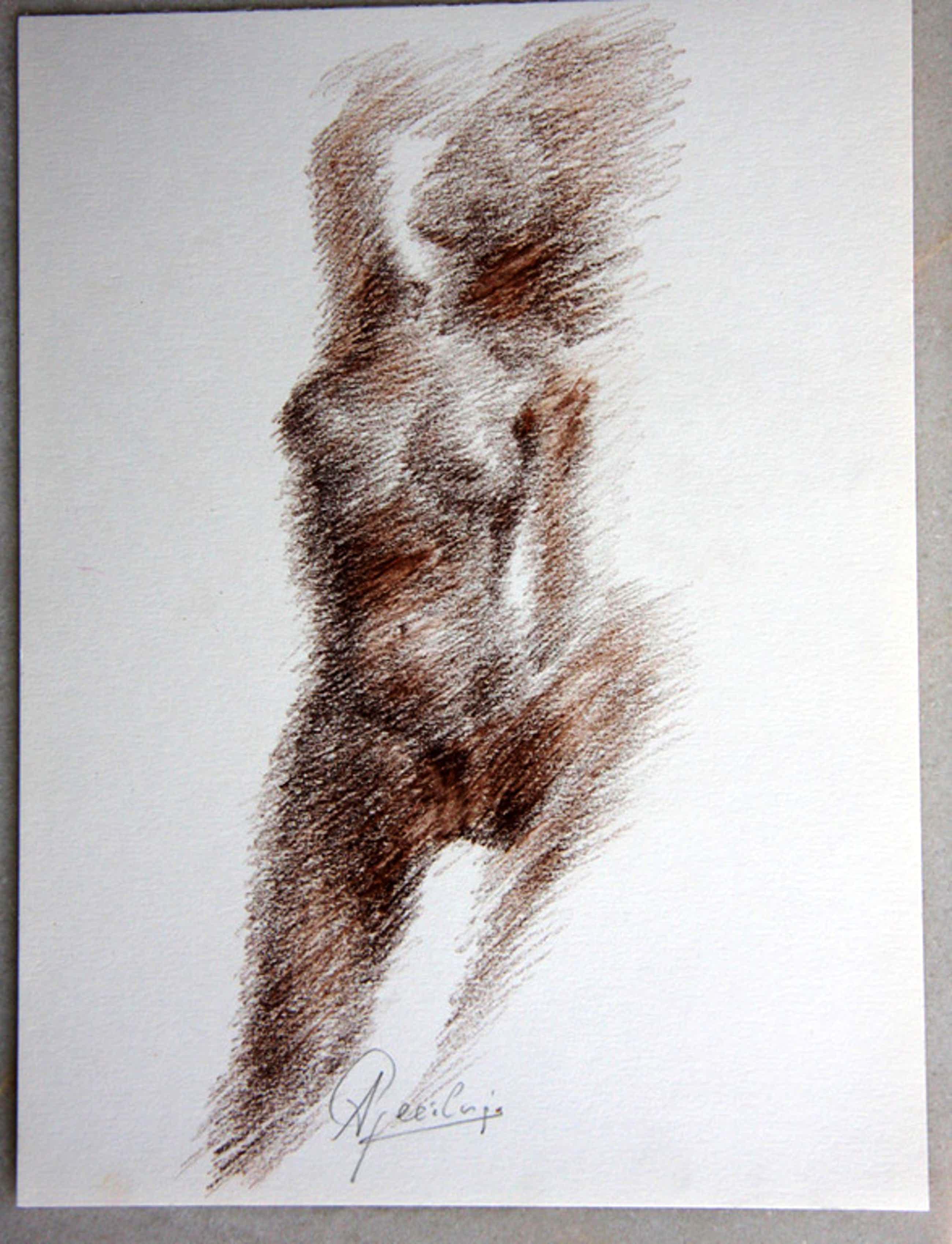 Anton Geerlings (1923), gemengde techniek op papier, vrouwelijk naakt kopen? Bied vanaf 60!