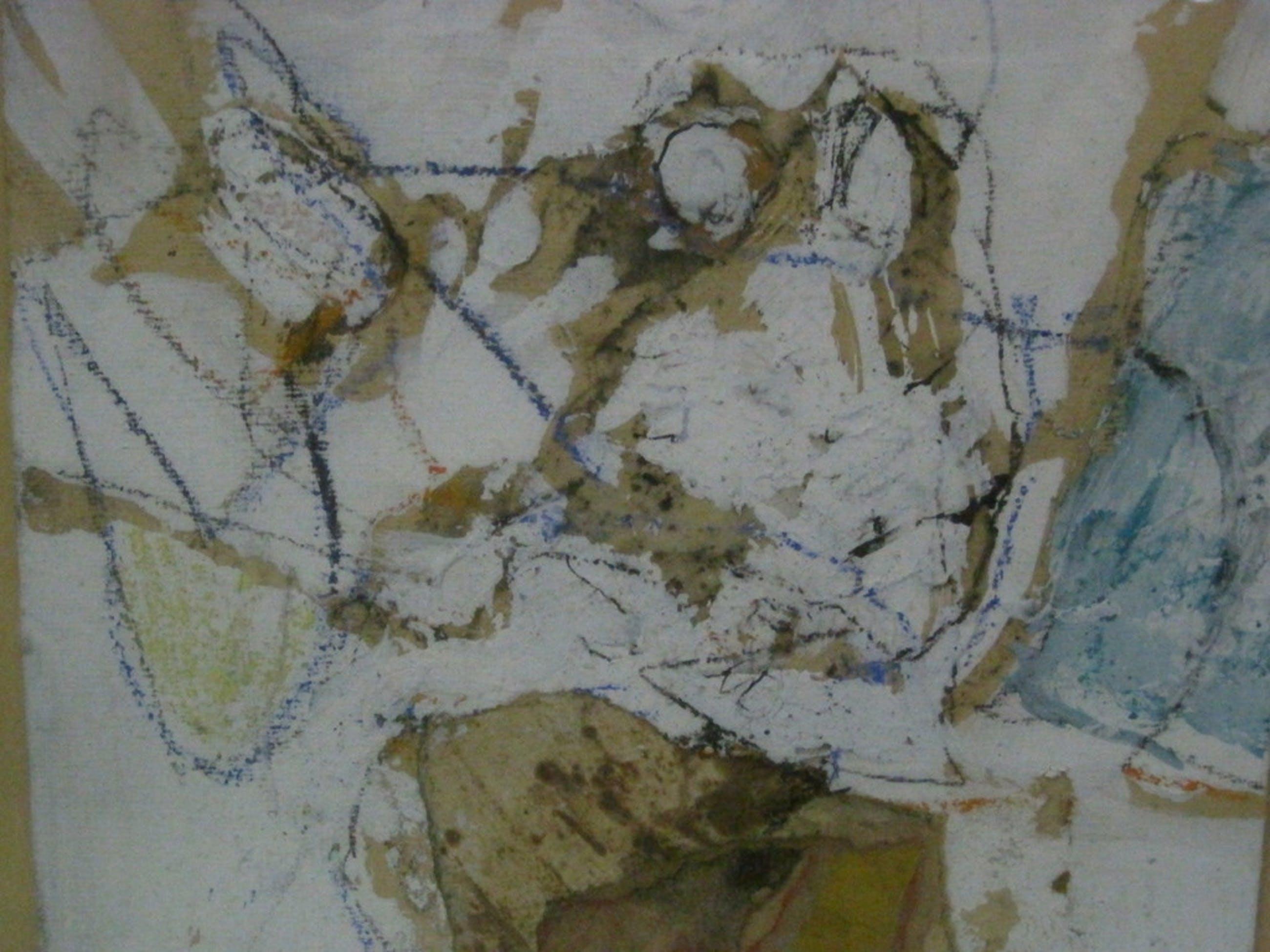 """G.L. vd Eerenbeemt (1936-2011) gem.techniek """"schroot op tafel"""" 1960 gesigneerd kopen? Bied vanaf 1!"""