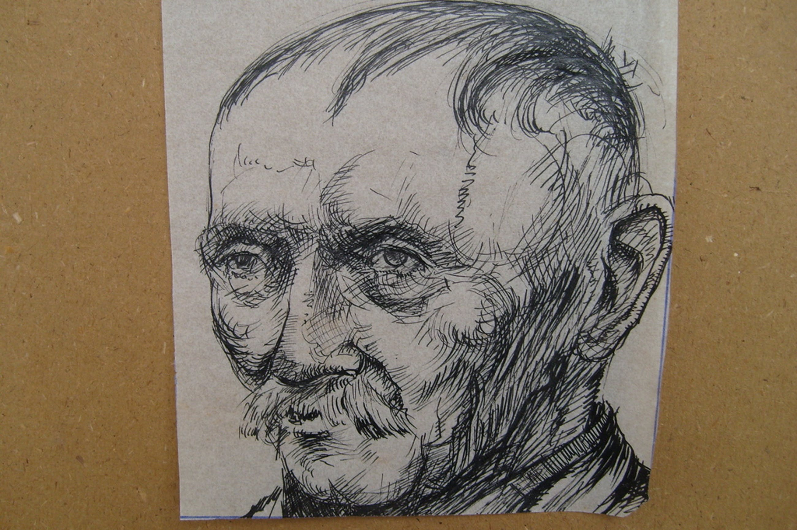 J.H. Frese, getekend, hoofd van oude man,  kopen? Bied vanaf 25!