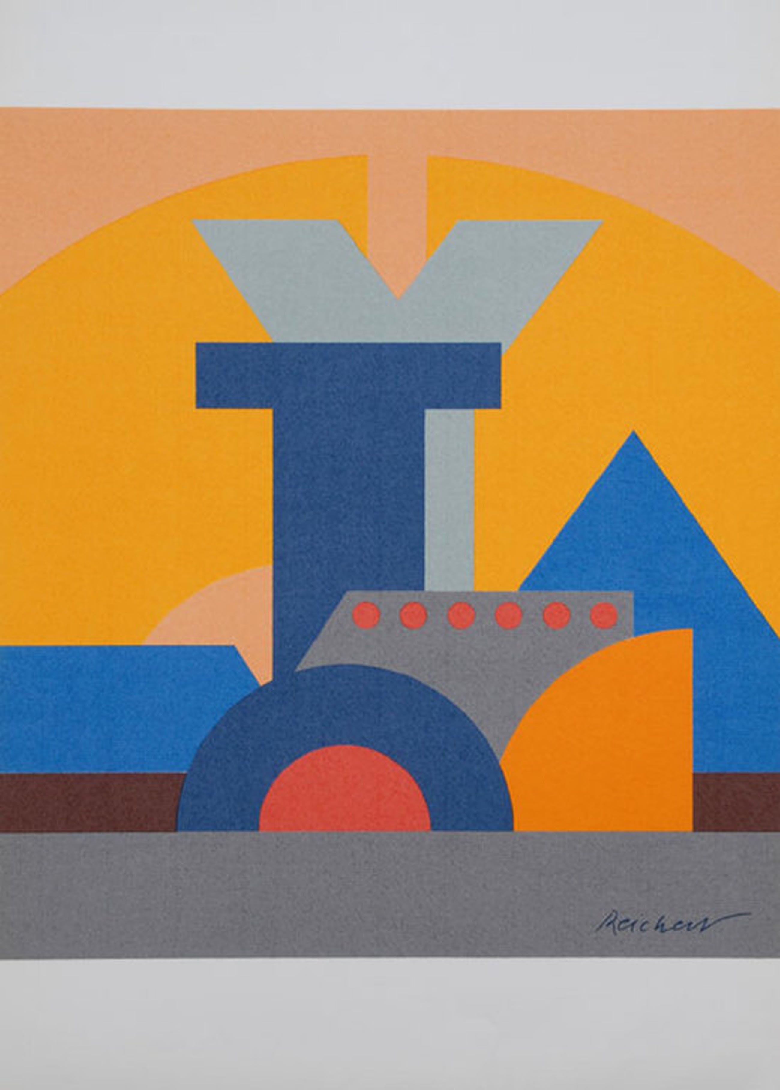 Josua Reichert, lithografie, Typografische compositie kopen? Bied vanaf 25!