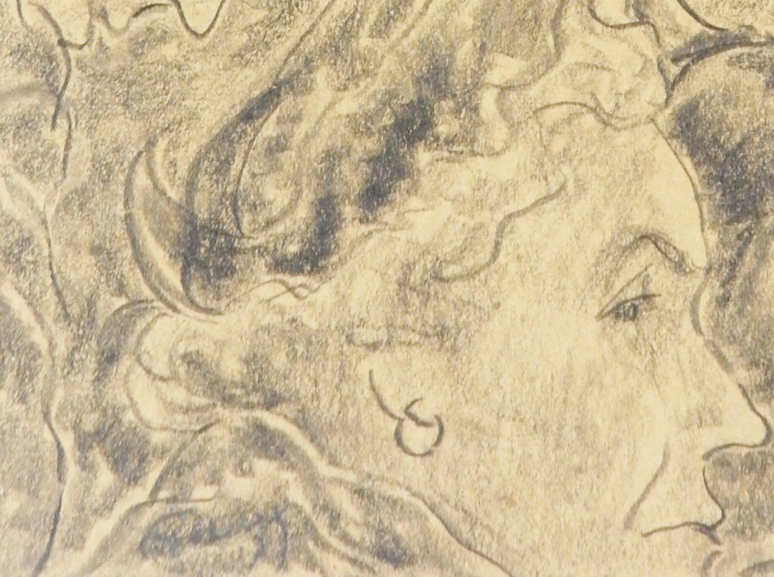 Phocas Fokkens (1888-1965) - Twee potloodtekeningen 1957 kopen? Bied vanaf 55!