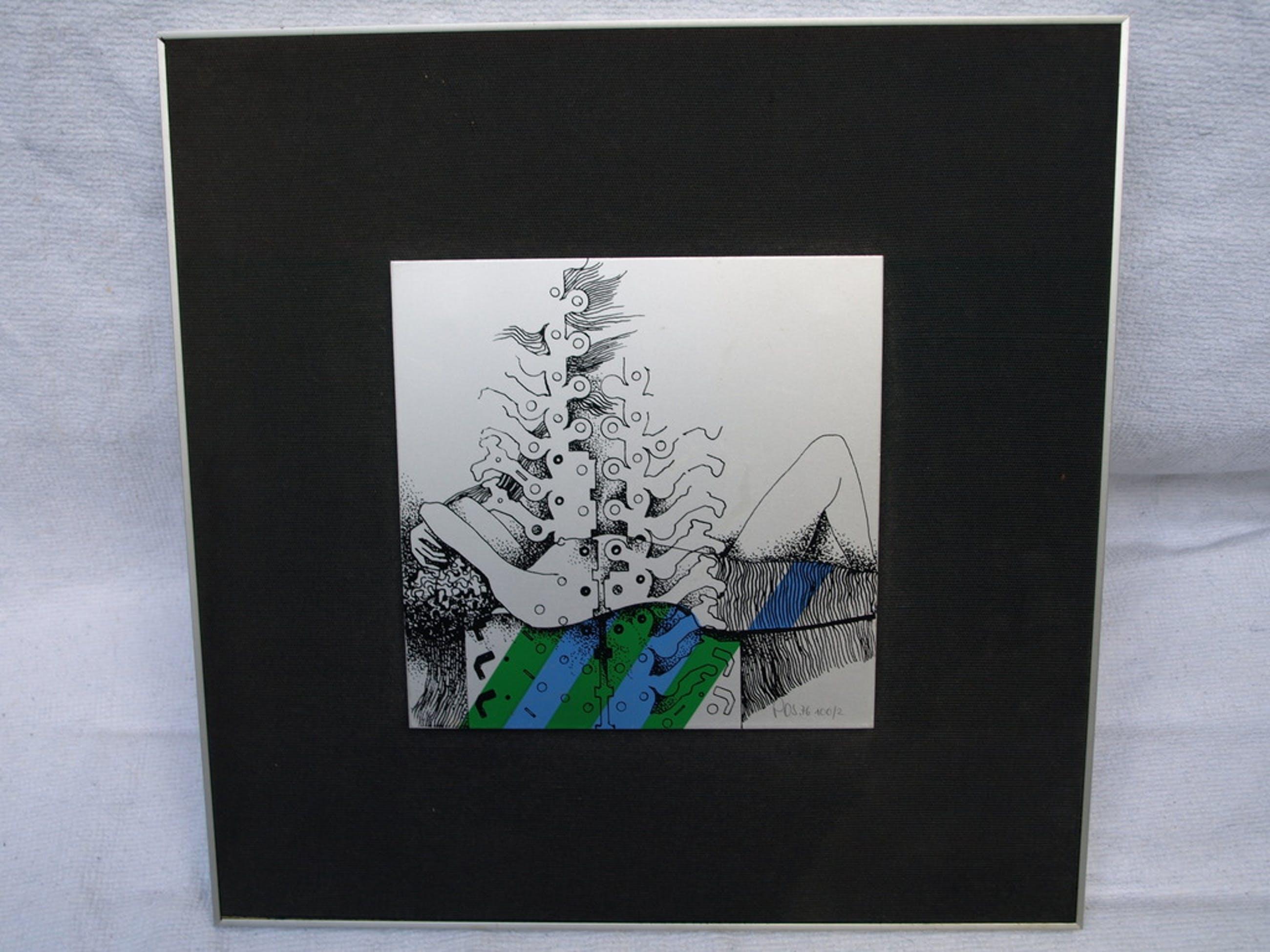 Rudolf Pospieszczyk – Zeefdruk op aluminium – Naakte vrouw – Gesigneerd - 1976 – 35 x 35 cm kopen? Bied vanaf 50!