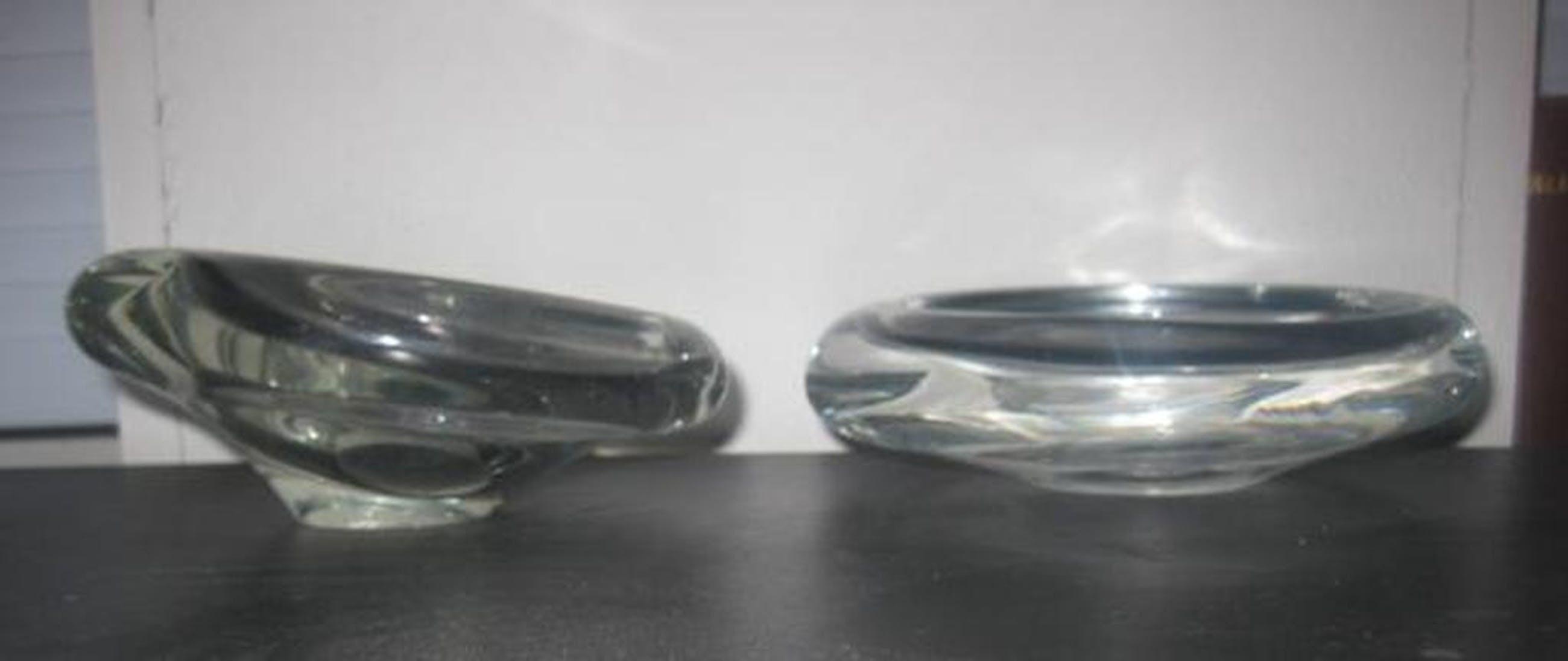 Set van twee asymmetrische schalen van Per Lutken voor Holmegaard - rond 1960 kopen? Bied vanaf 1!