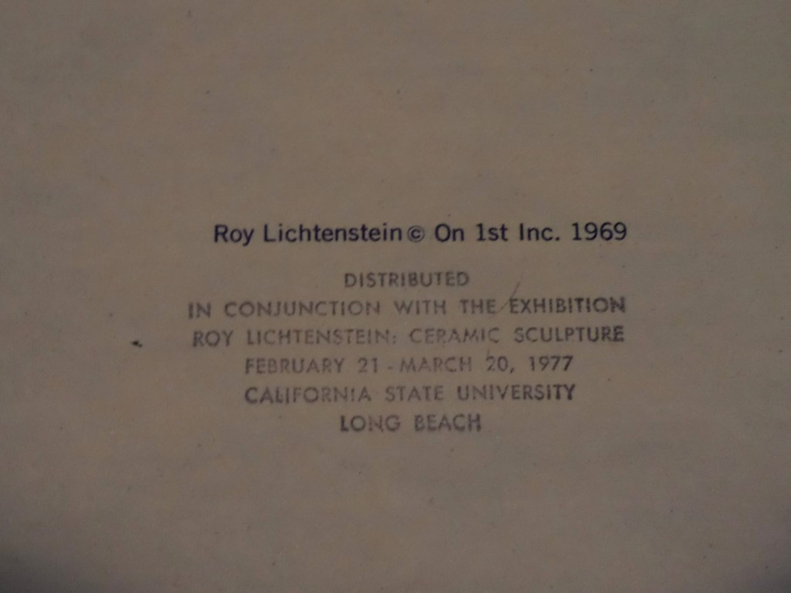 1e editie Paper Plate - zeefdruk op wit papieren bord - 1969 kopen? Bied vanaf 299!