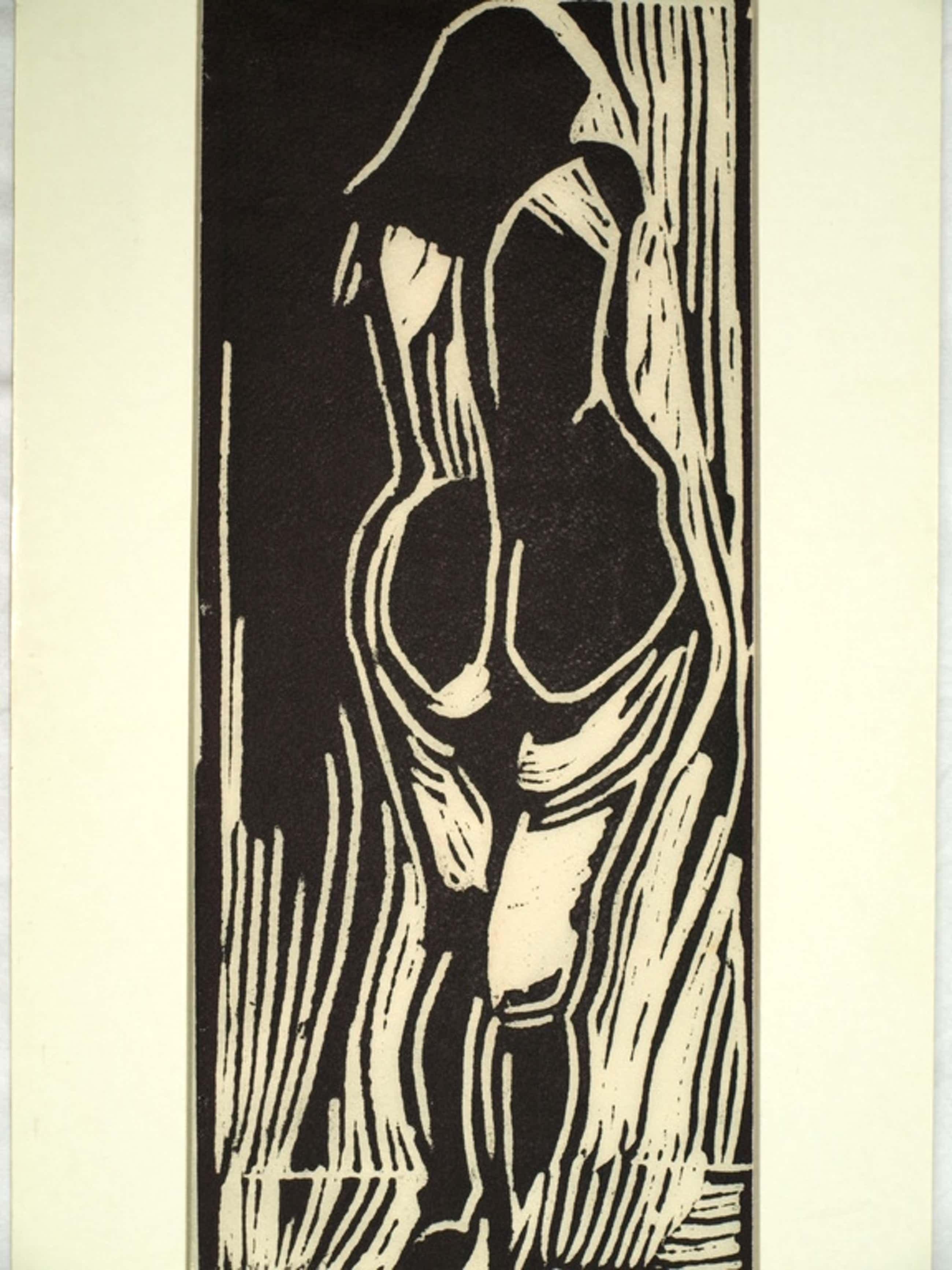 Piet Wiegman (1930-2008) – Houtsnede  – Vrouw – Gesigneerd  kopen? Bied vanaf 40!