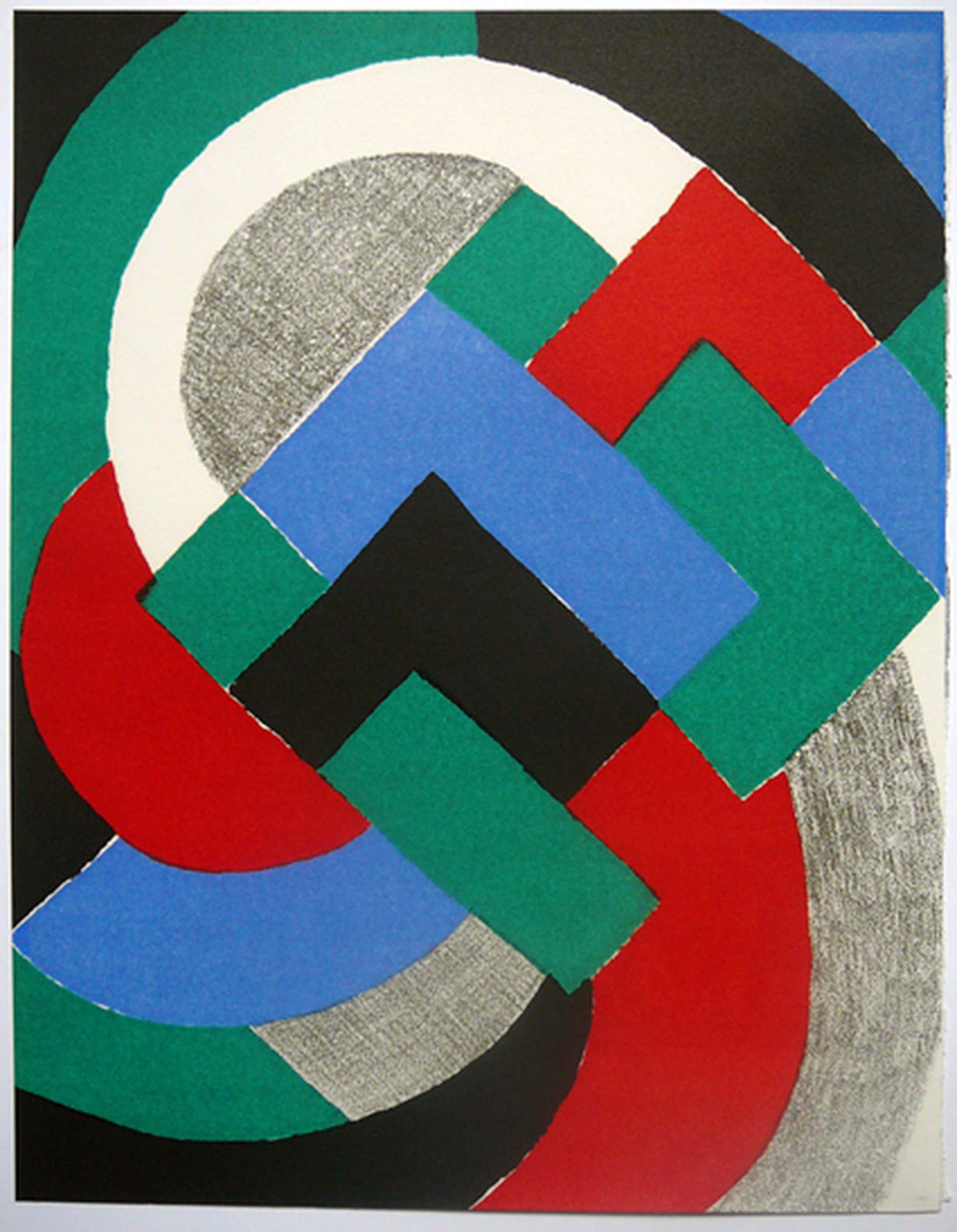Sonia Delaunay: Simultanisme -litho (zeefdruk?) achter passepartout- kopen? Bied vanaf 40!