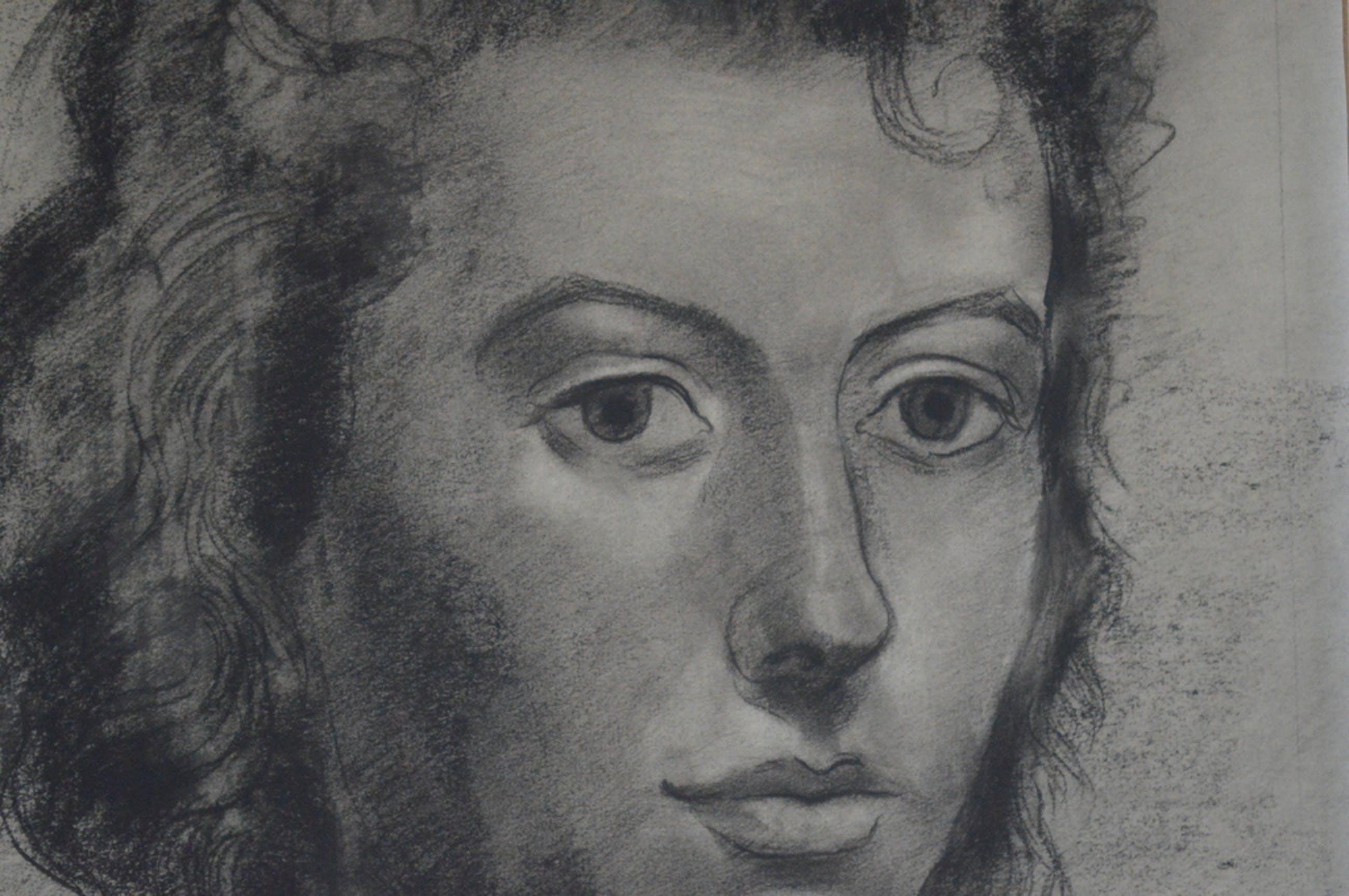 Hans Wiesman - portret van vrouw 33 x 47, krijt z.j.  kopen? Bied vanaf 50!