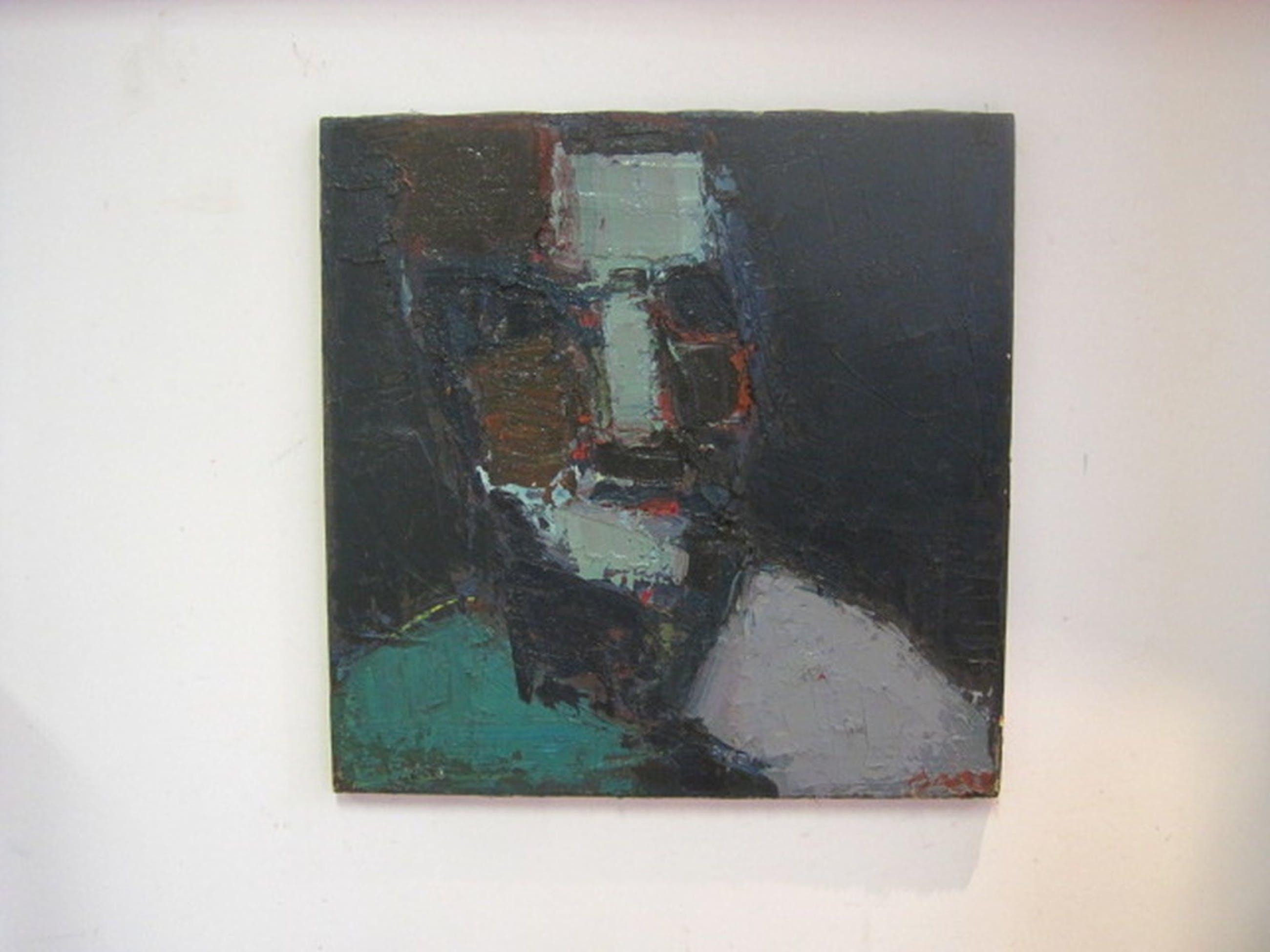 """ges. Bart ( Bart de Graaf 1946-) """"portret man"""" olieverf op doek  kopen? Bied vanaf 1!"""