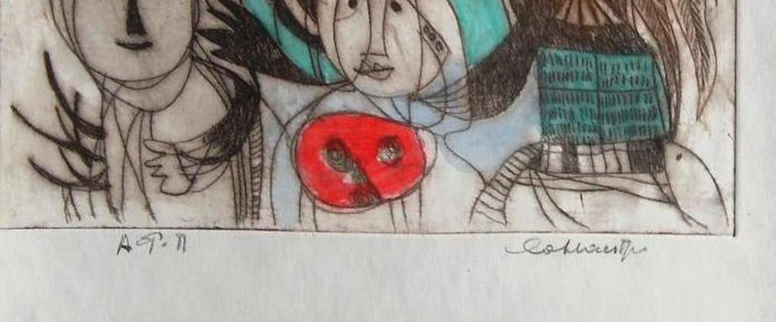 Jan Cobbaert: cobrafiguren, ets met de hand ingekleurd kopen? Bied vanaf 265!