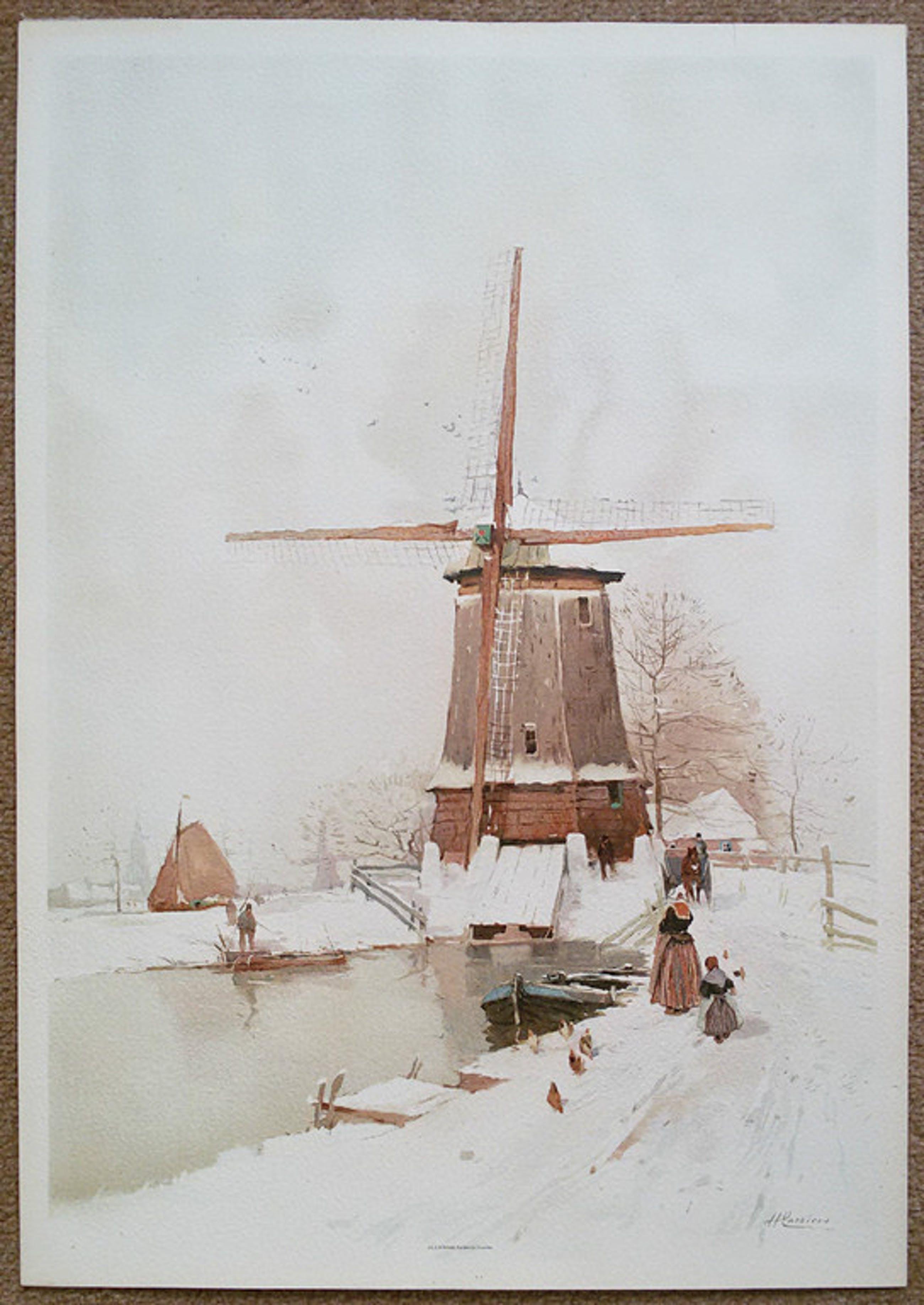 Henri Cassiers - Winters Nederland, chromolithografie kopen? Bied vanaf 30!