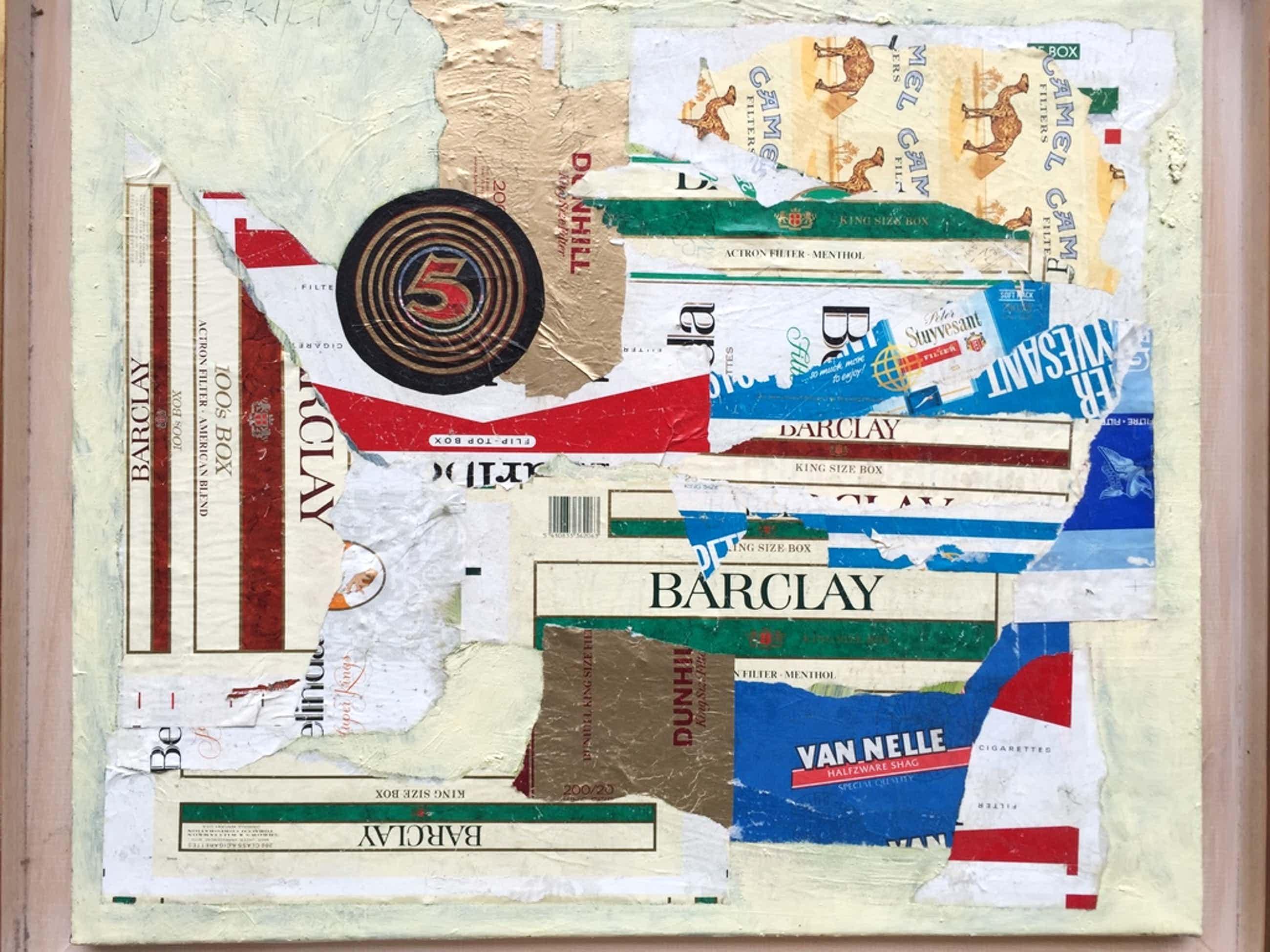 ERNST VIJLBRIEF  Unieke Collage op doek 2 x gesigneerd 1994 kopen? Bied vanaf 395!