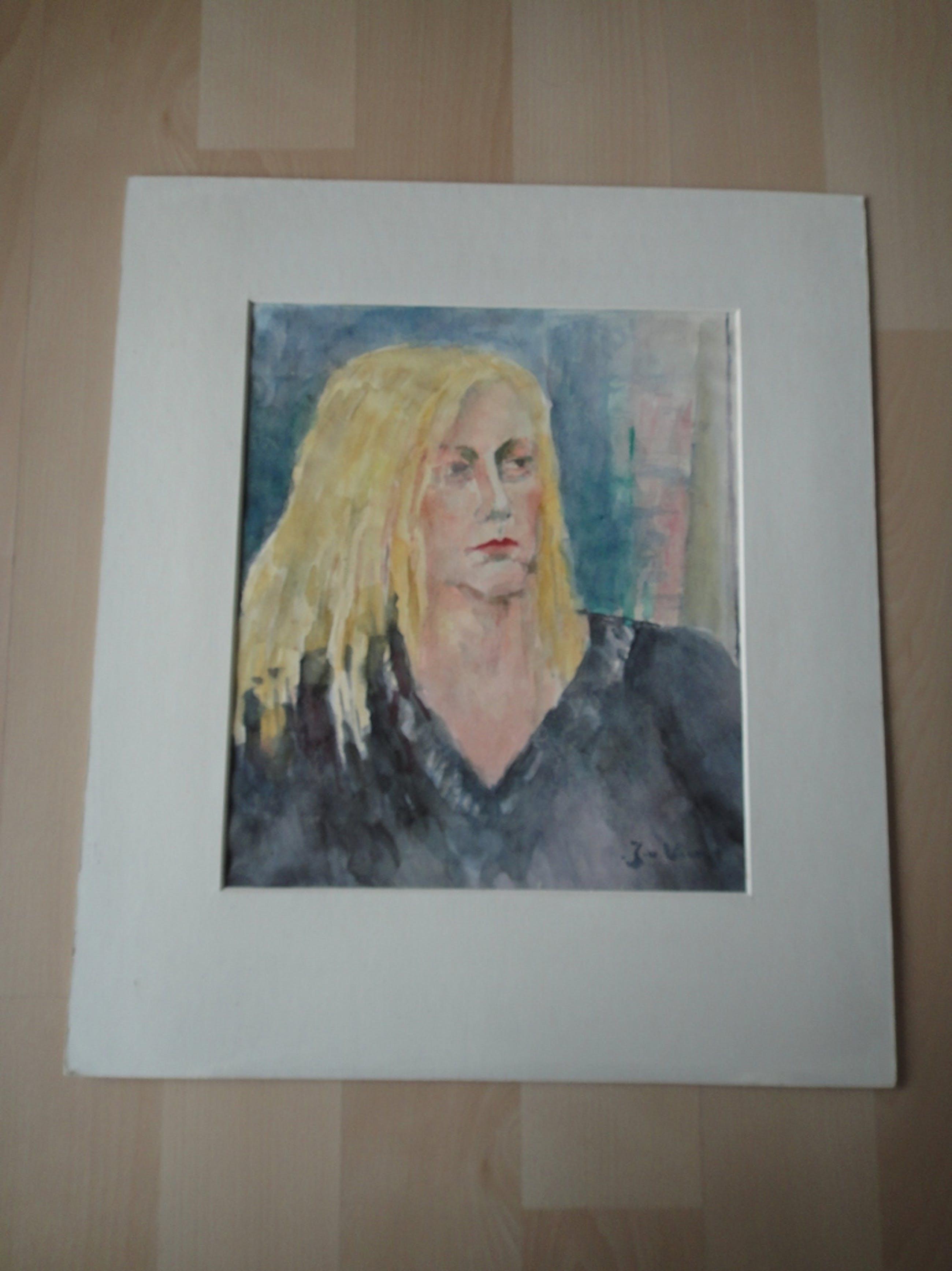 Jaap van Veen, aquarel, 4 jaren '70 portretten  kopen? Bied vanaf 1!